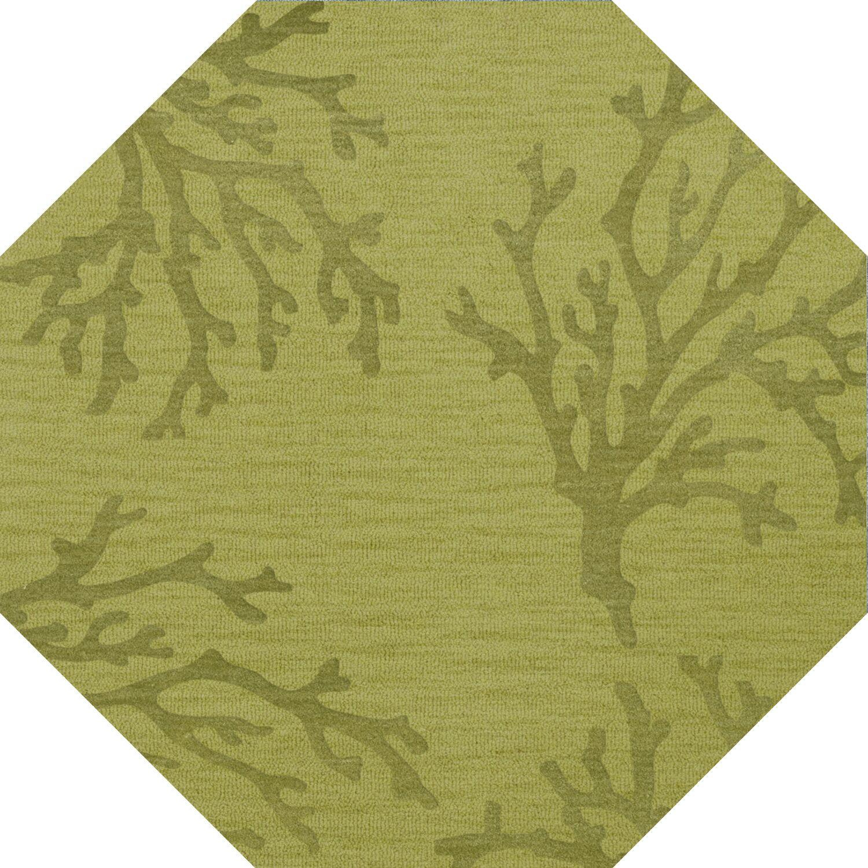 Bella Green Area Rug Rug Size: Octagon 10'