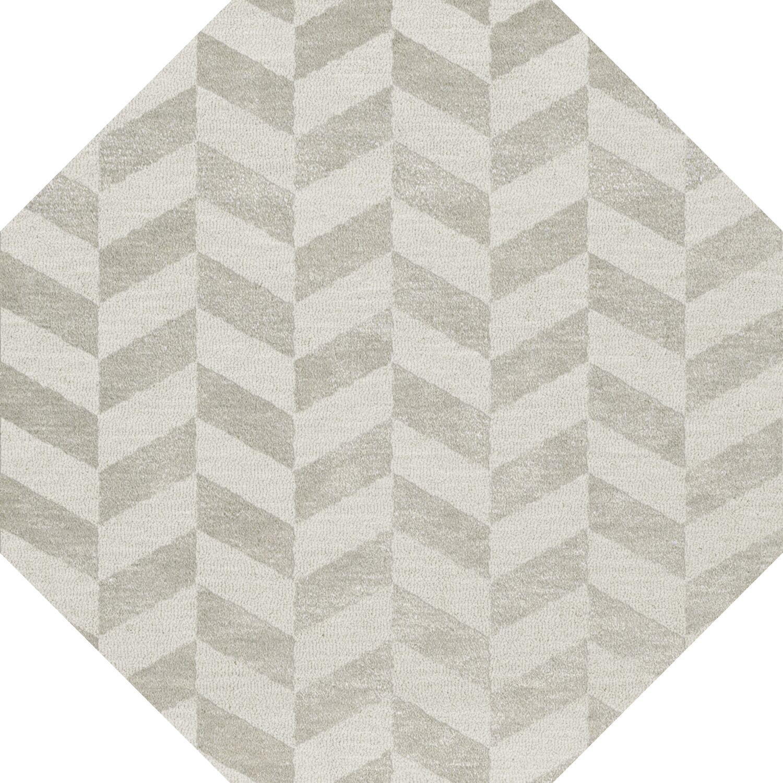 Bella Machine Woven Wool Gray Area Rug Rug Size: Octagon 8'