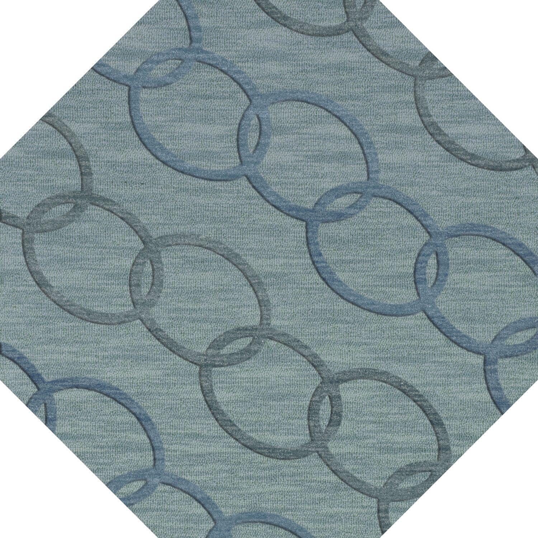 Bella Blue Blue Area Rug Rug Size: Octagon 4'