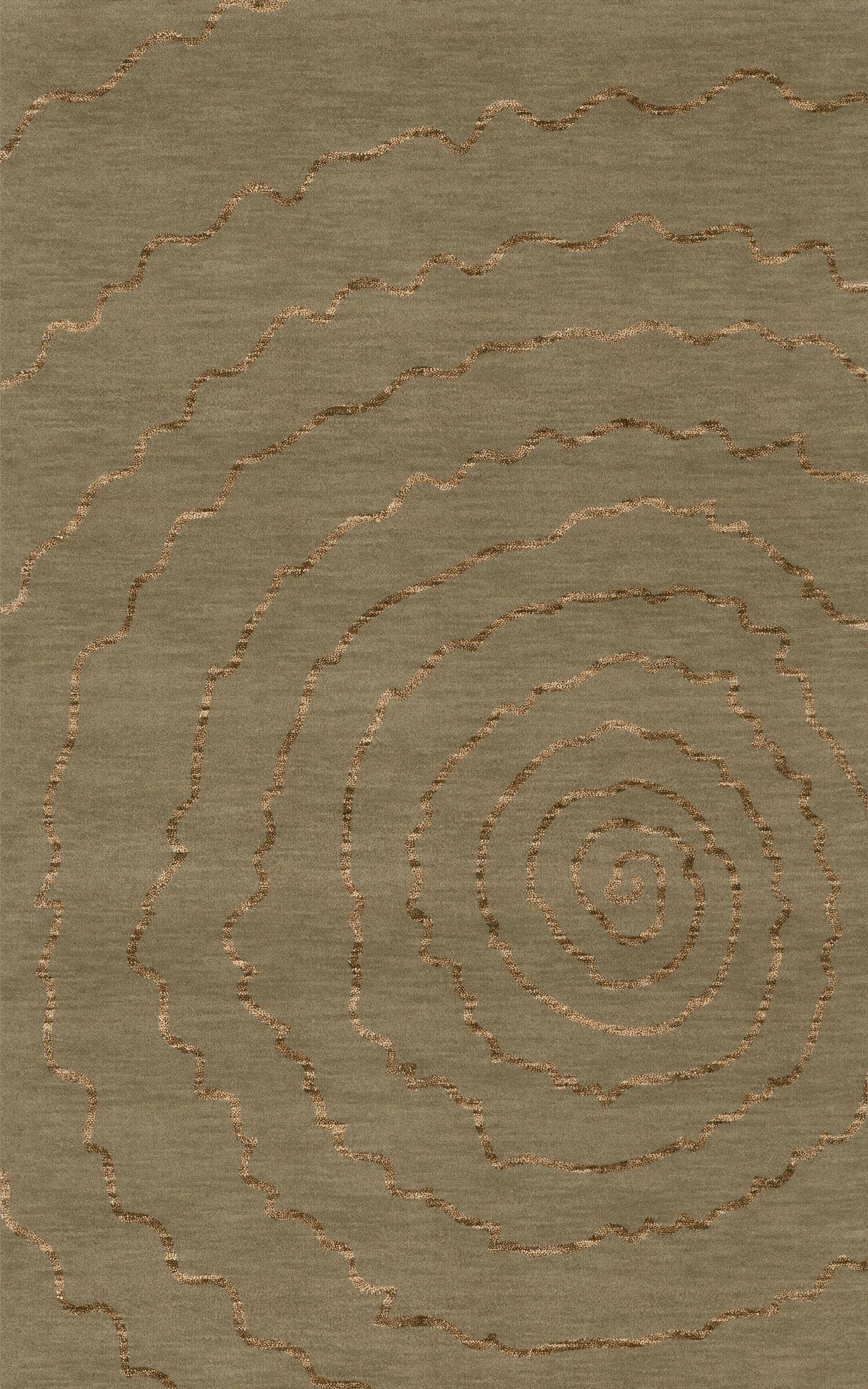 Bella Machine Woven Wool Gray Area Rug Rug Size: Rectangle 9' x 12'
