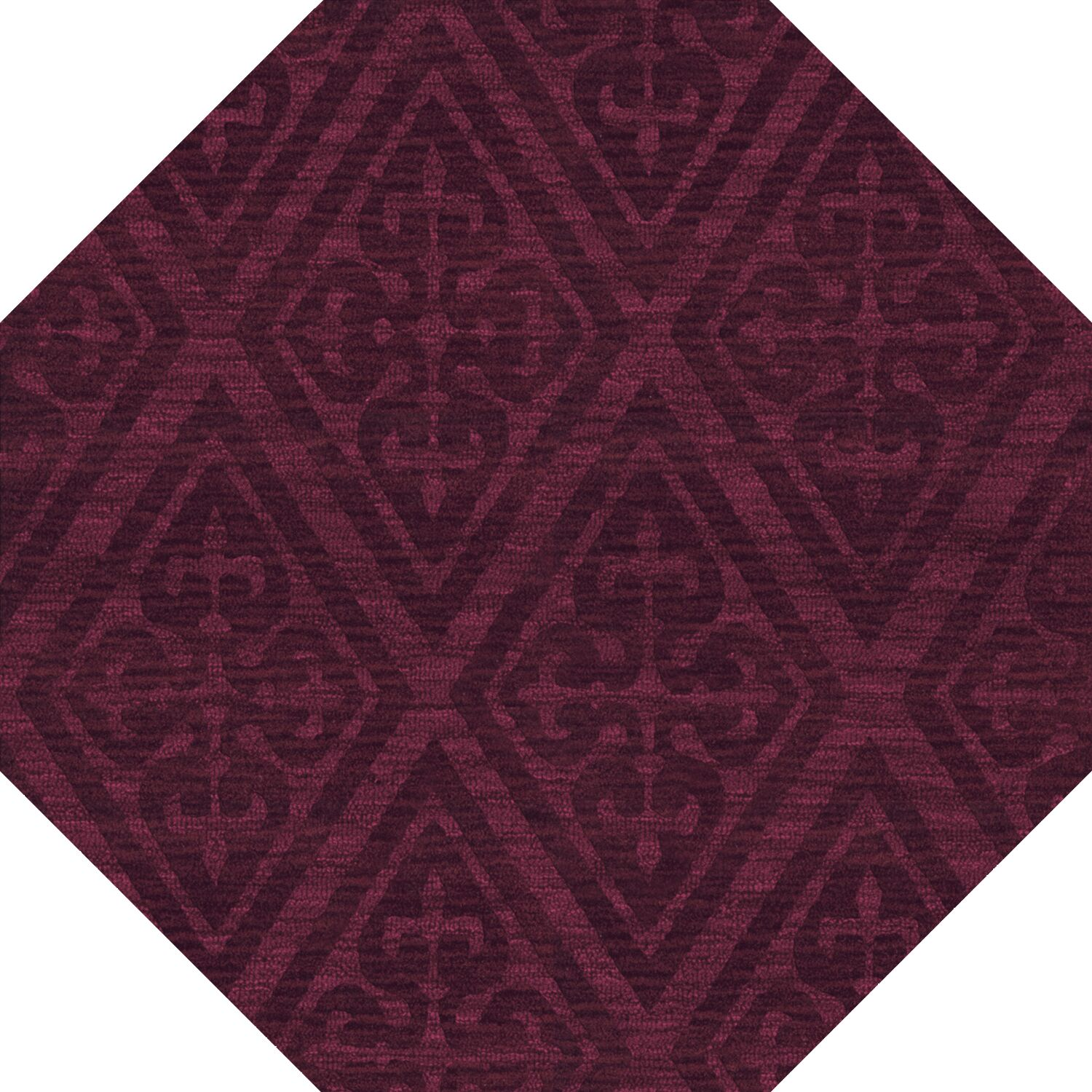 Bella Machine Woven Wool Red Area Rug Rug Size: Octagon 6'
