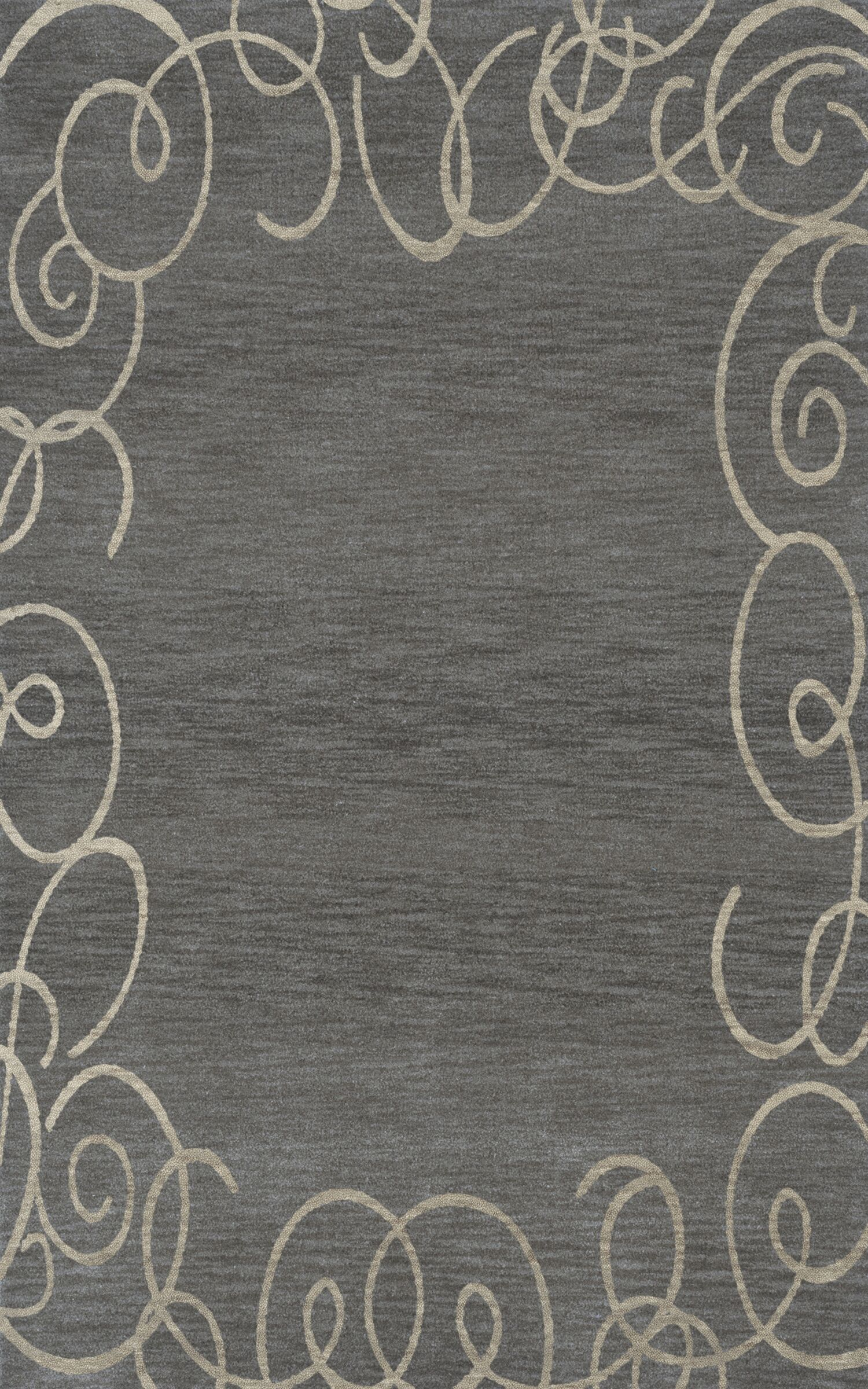 Bella Gray Area Rug Rug Size: Rectangle 4' x 6'