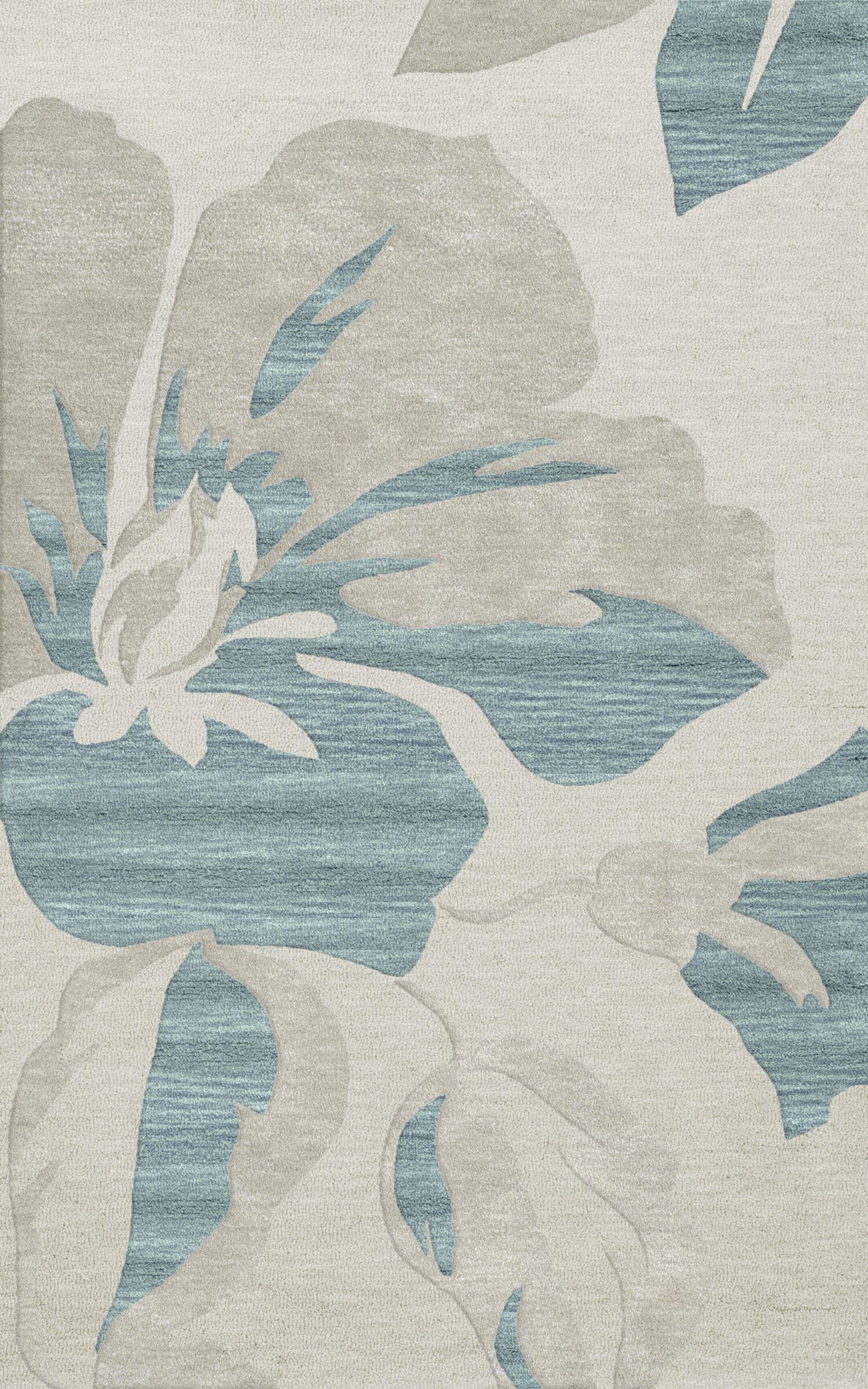 Bella Machine Woven Wool Blue Area Rug Rug Size: Rectangle 12' x 18'