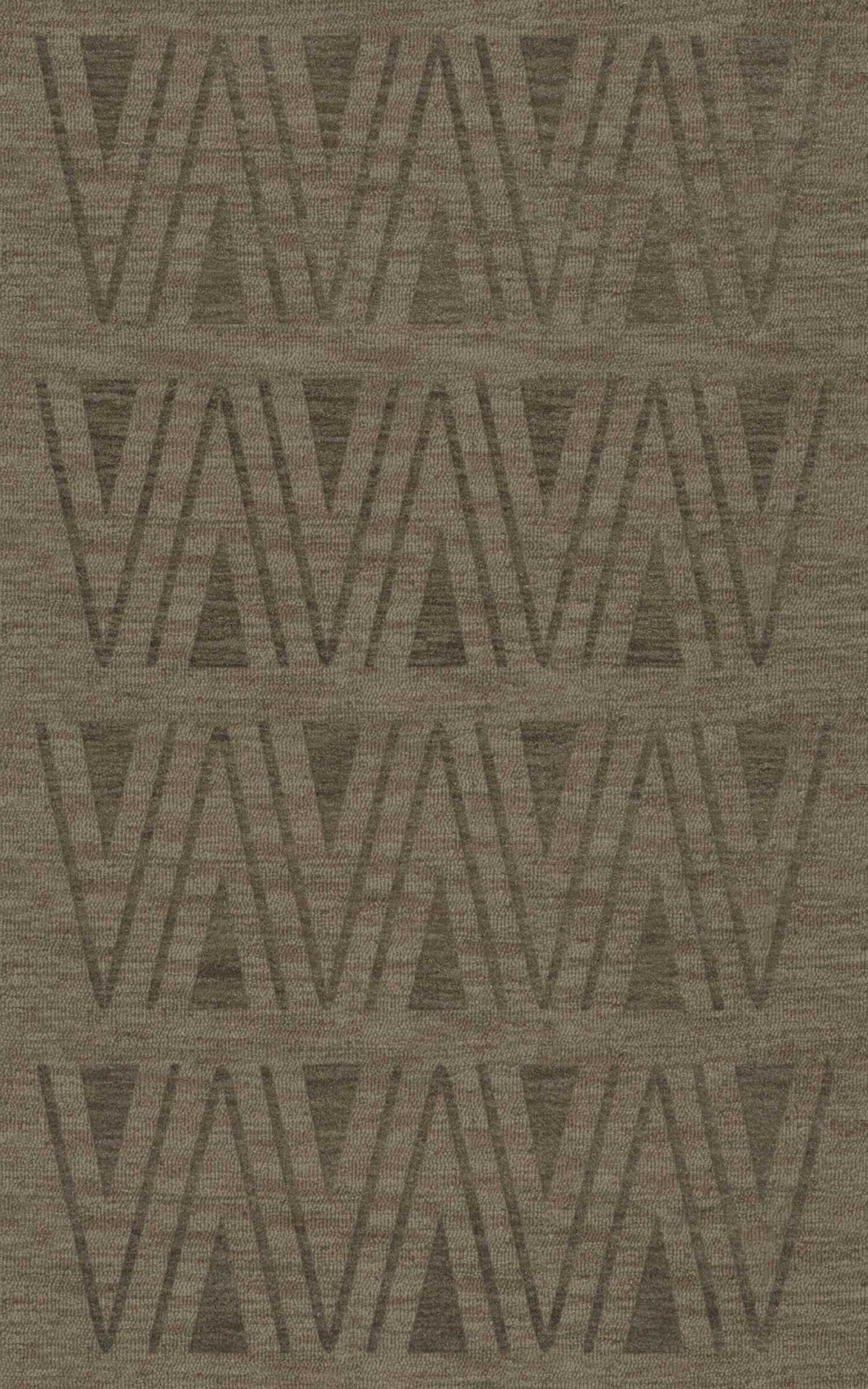 Bella Machine Woven Wool Gray Area Rug Rug Size: Rectangle 5' x 8'