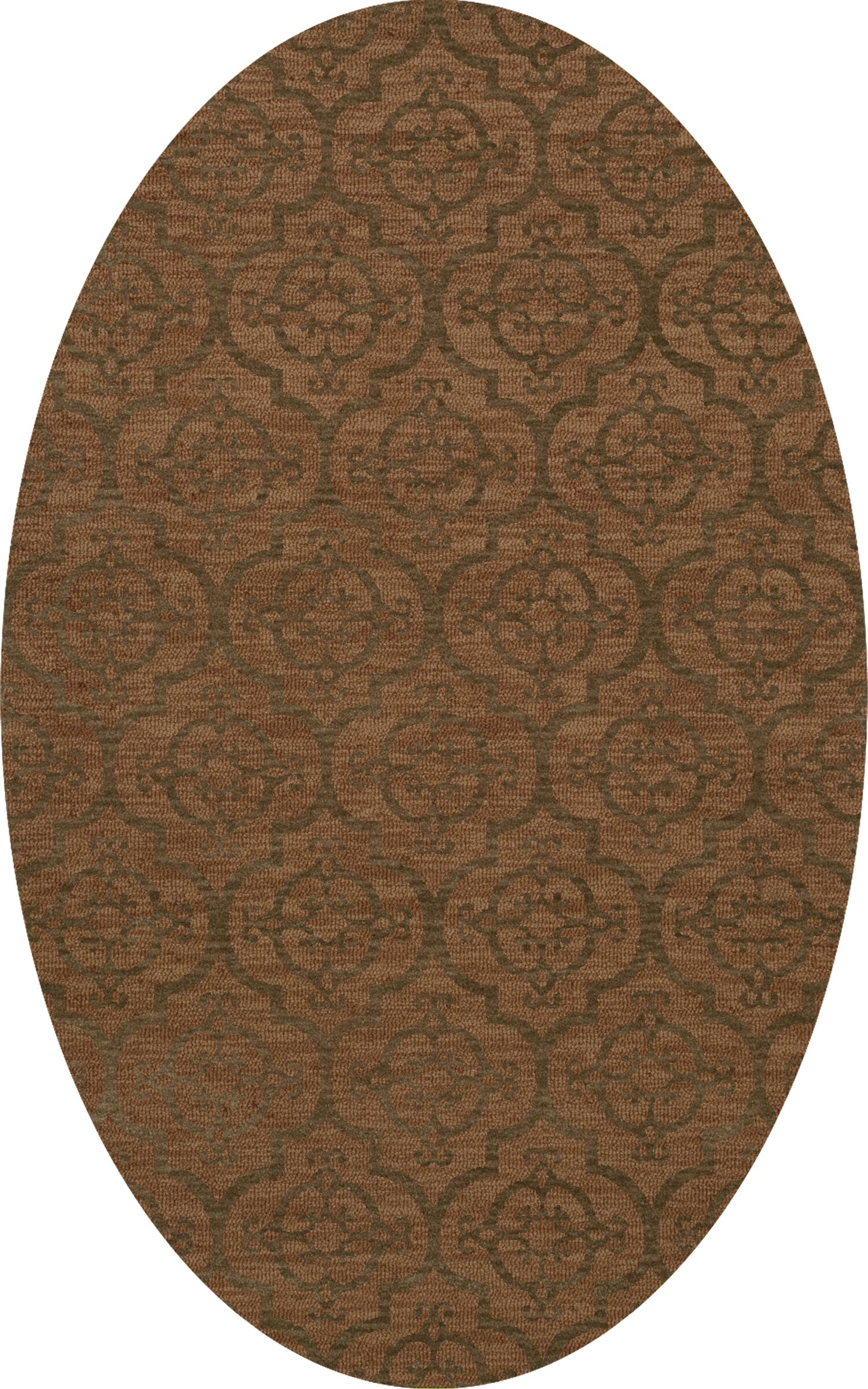 Bella Brown Area Rug Rug Size: Oval 9' x 12'