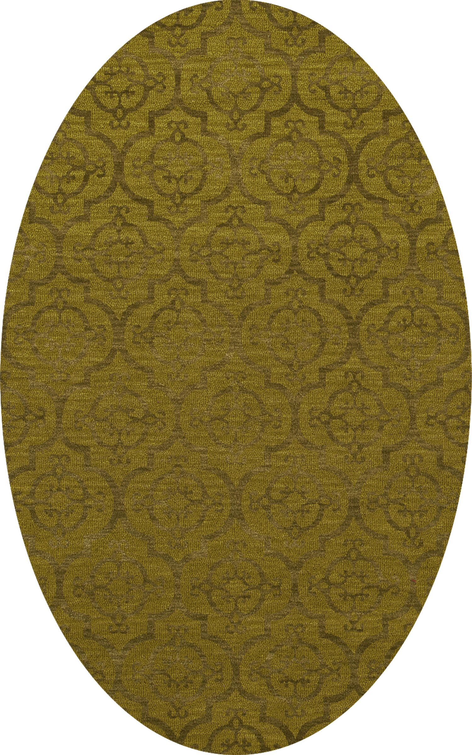 Bella Machine Woven Wool Avocado Area Rug Rug Size: Oval 5' x 8'