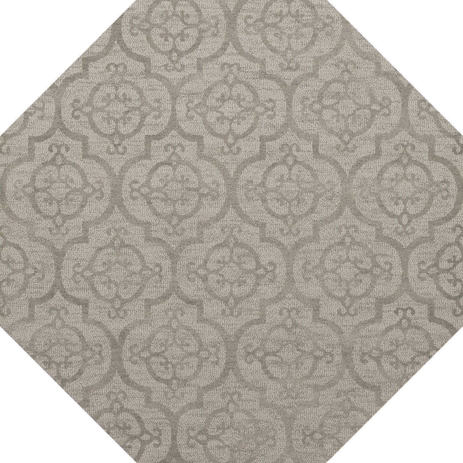 Bella Machine Woven Wool Silver Area Rug Rug Size: Octagon 8'