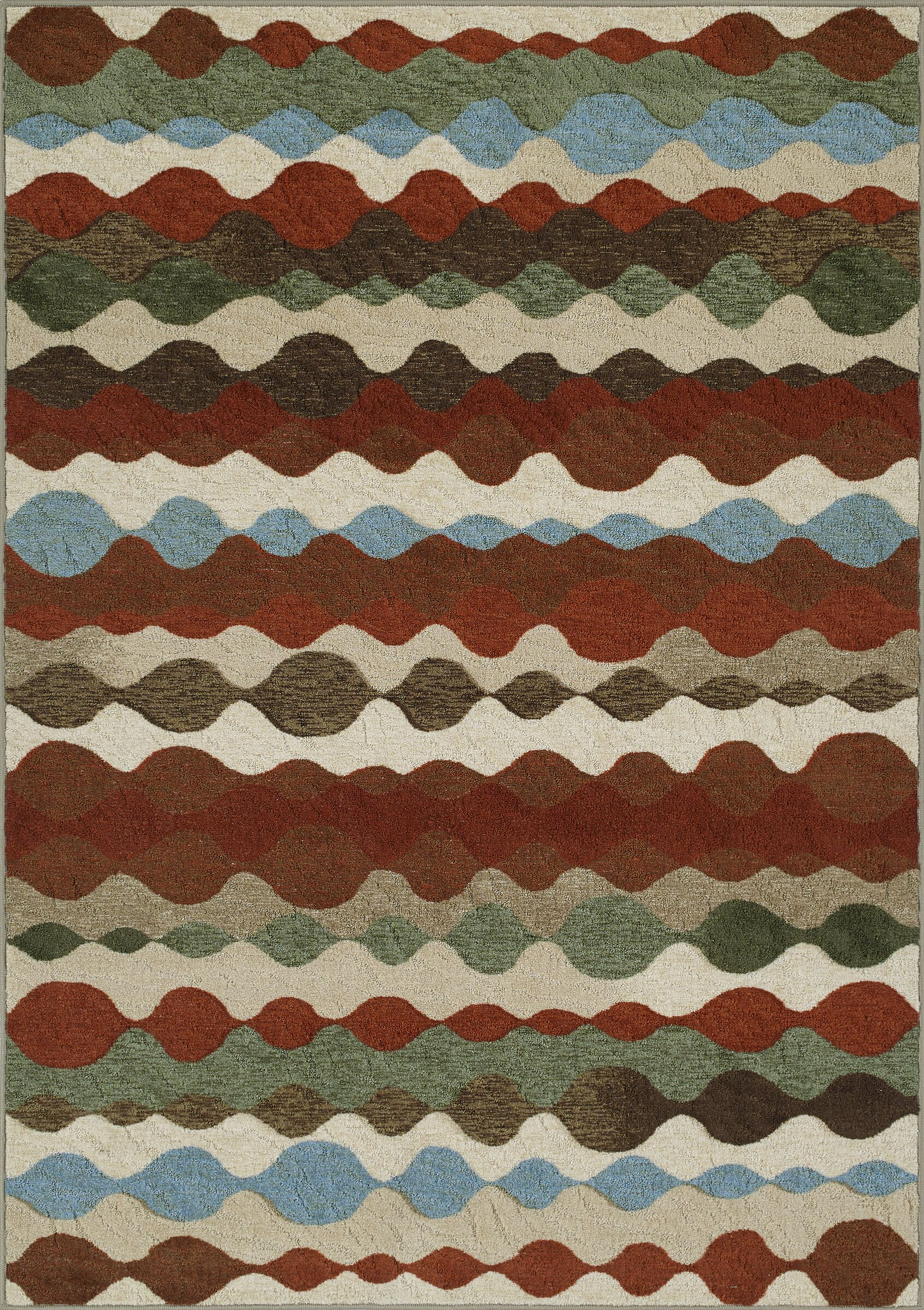 Horizons Red/Gray Area Rug Rug Size: Rectangle 4'11