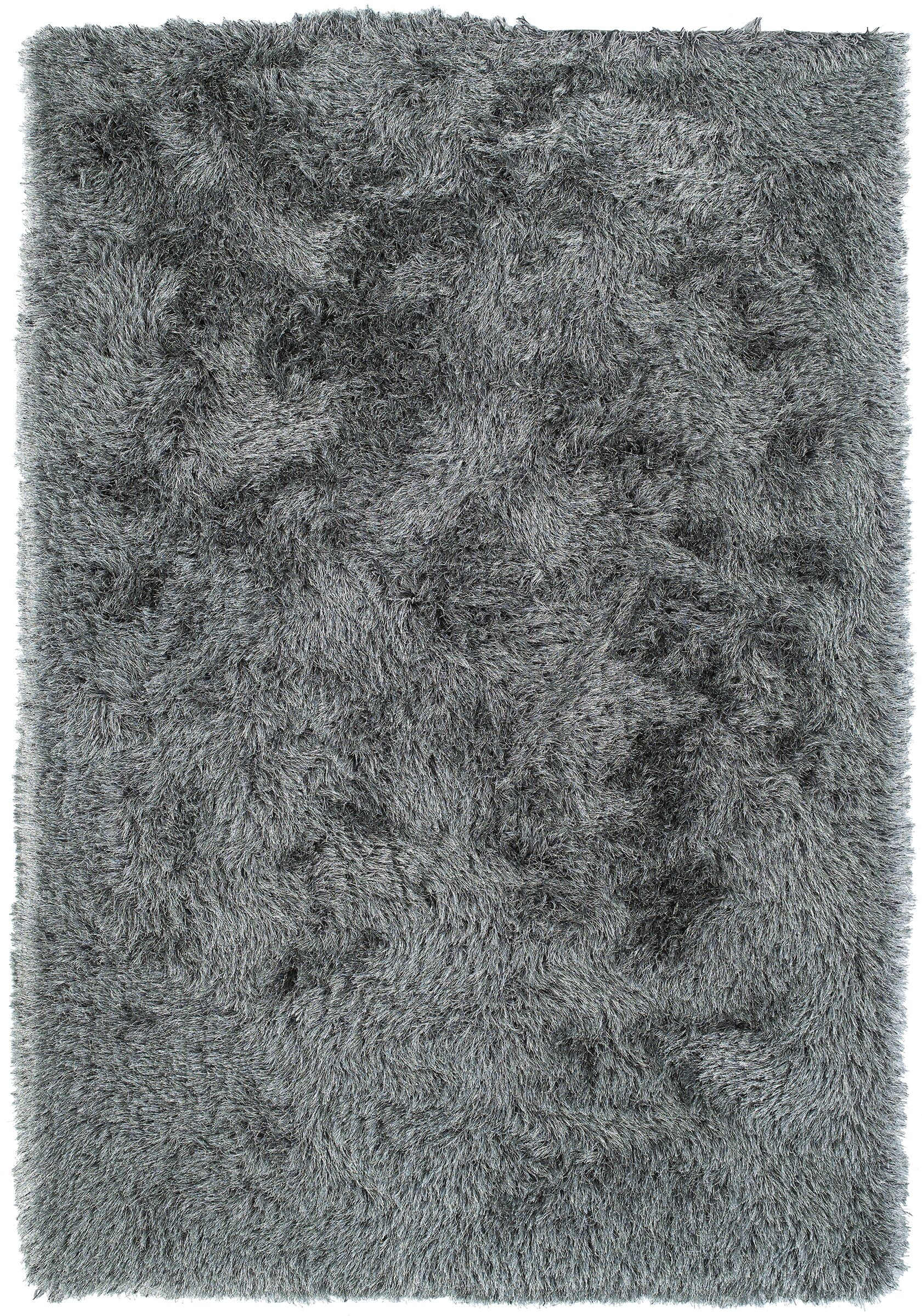 Impact Hand-Tufted Gray Area Rug Rug Size: Rectangle 5' x 7'6