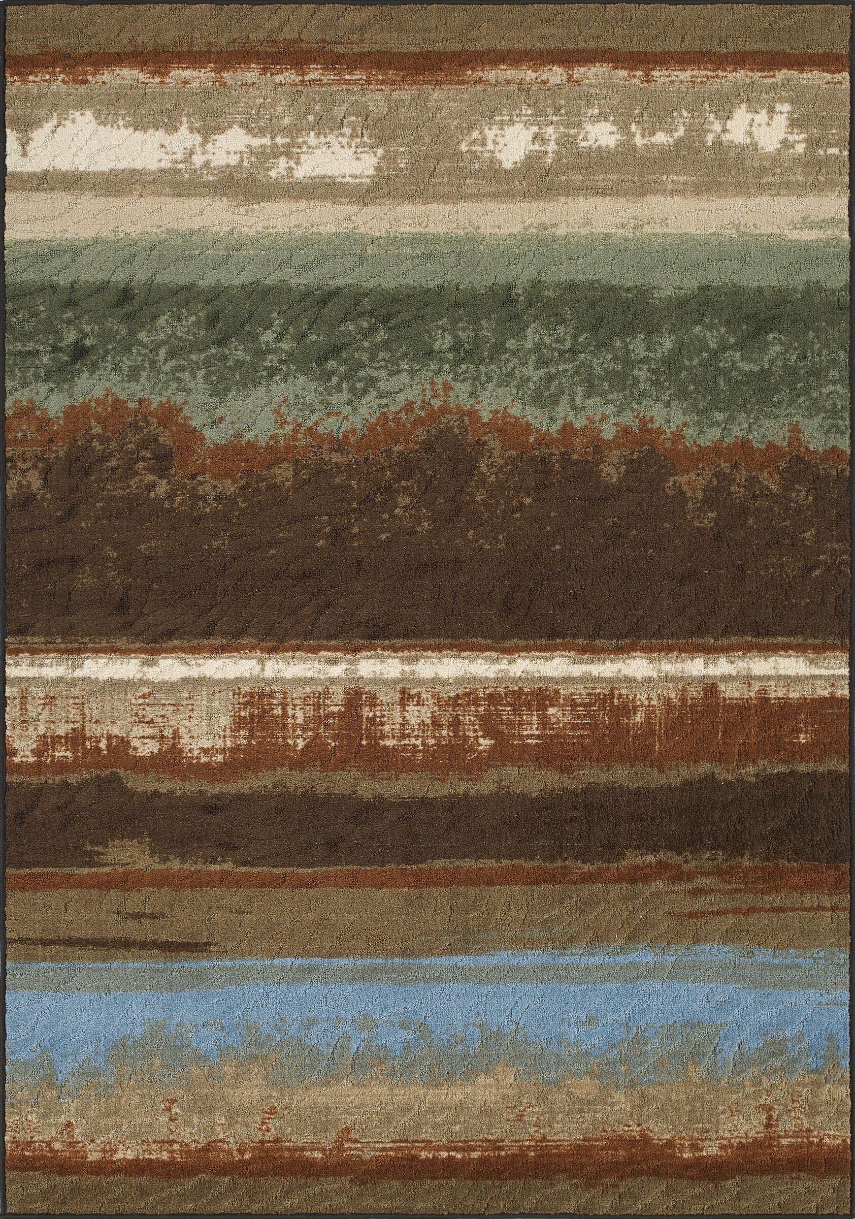 Horizons Brown Area Rug Rug Size: Rectangle 4'11