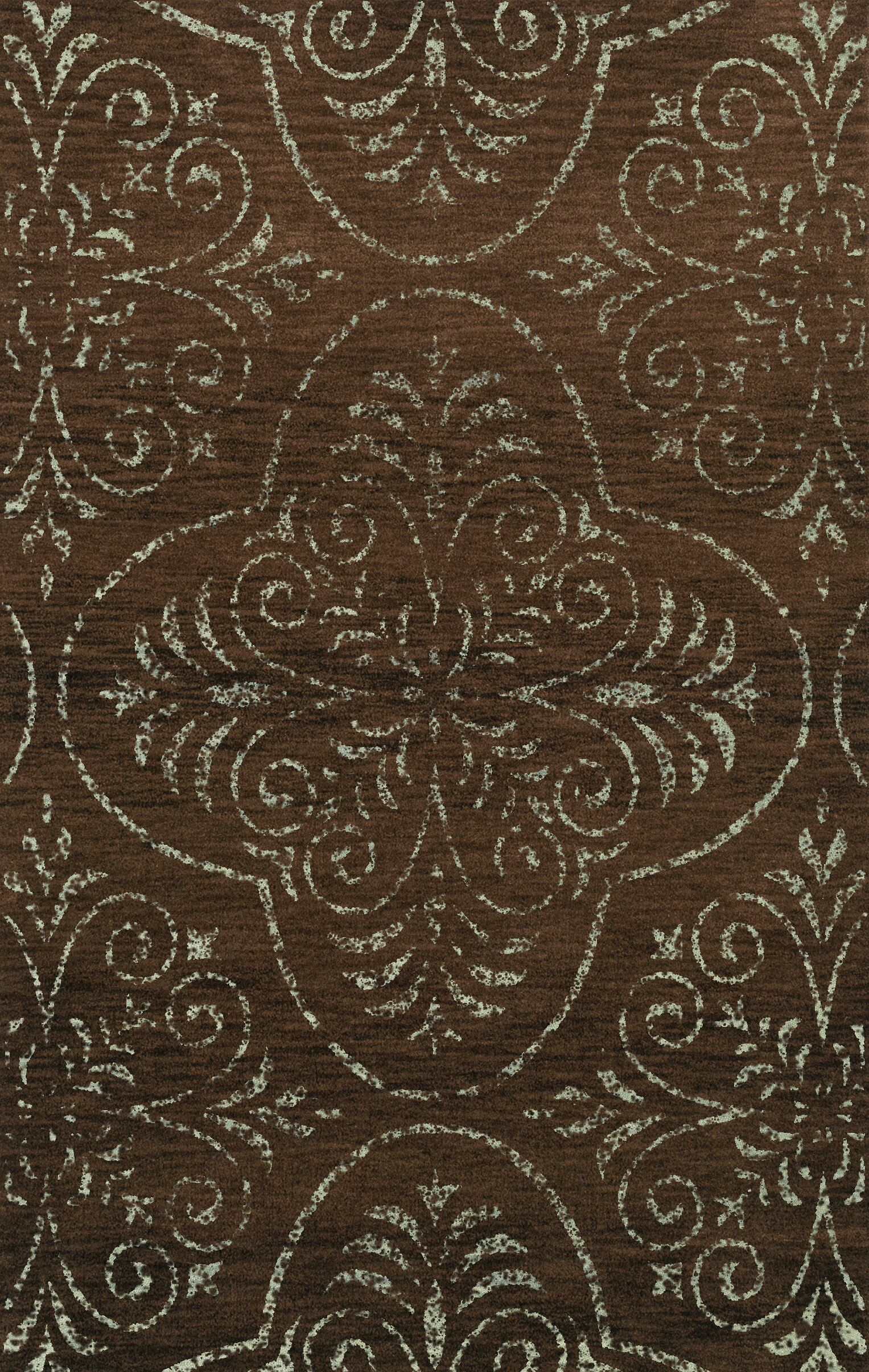 Elkton Brown Area Rug Rug Size: Rectangle 4' x 6'