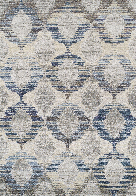 Moni Blue/Gray Area Rug Rug Size: Rectangle 5'3