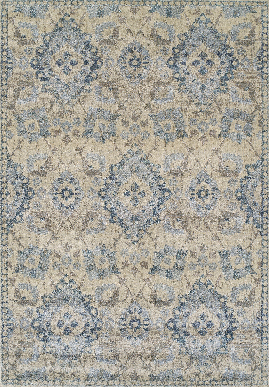 Bartlet Gray/Blue Area Rug Rug Size: Rectangle 3'3