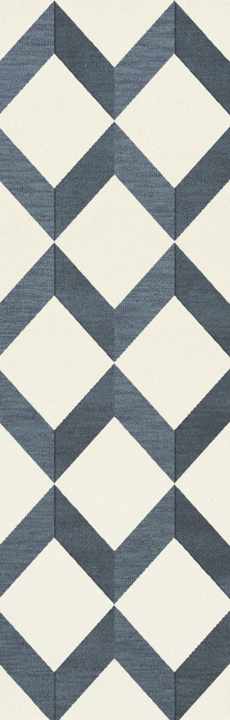 Bella Blue/White Area Rug Rug Size: Runner 2'6