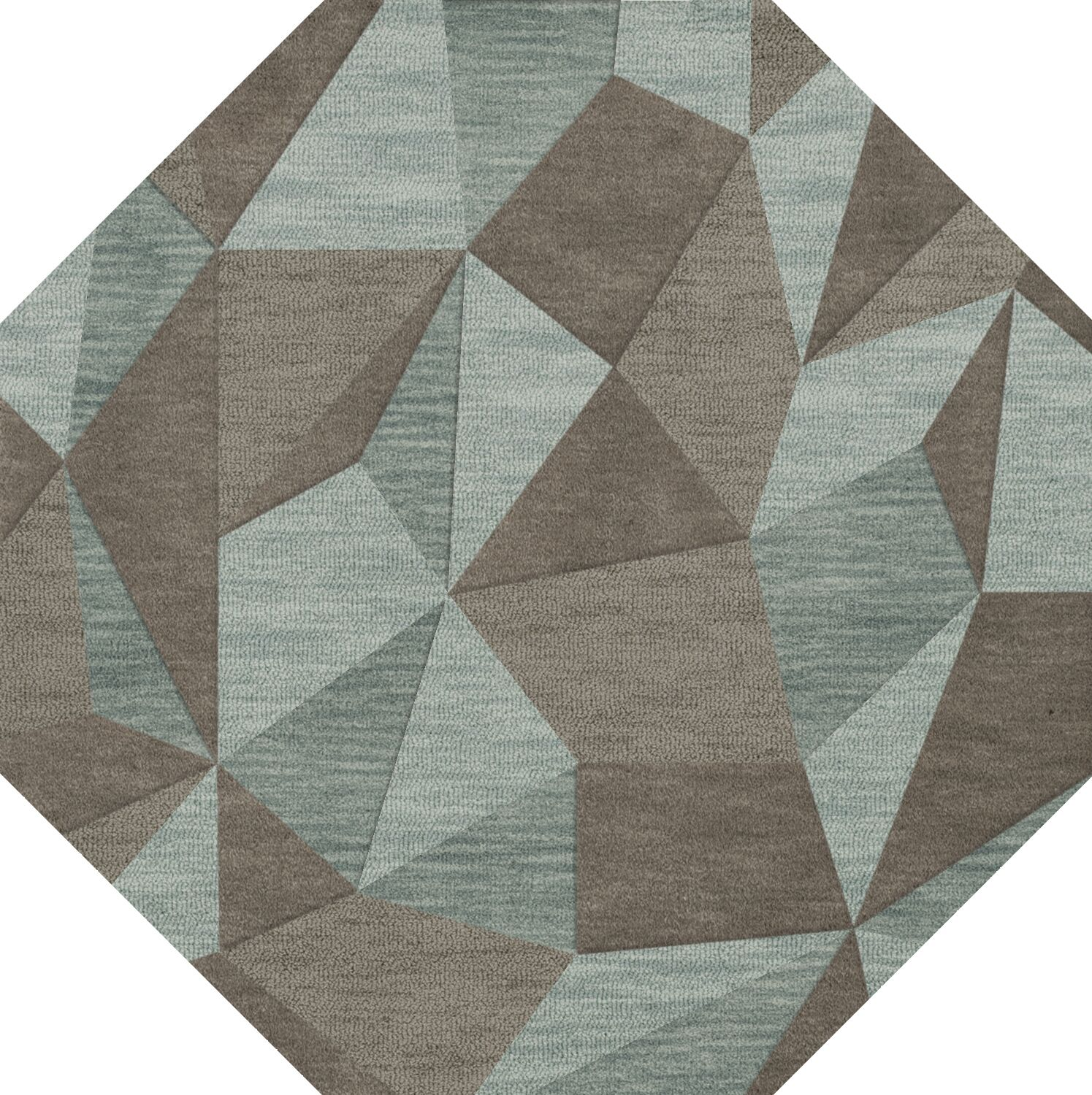 Bella Gray/Brown Area Rug Rug Size: Octagon 8'