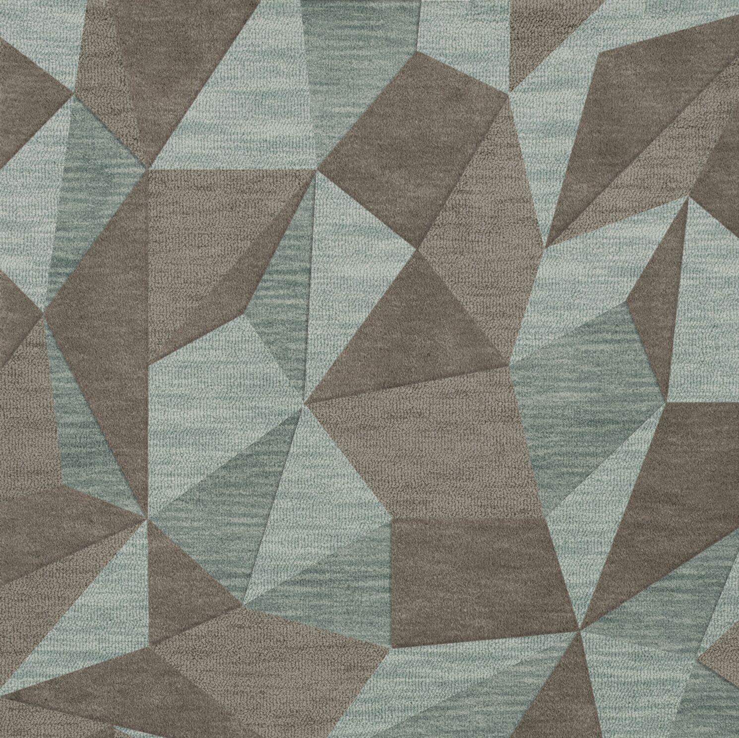 Bella Gray/Brown Area Rug Rug Size: Square 10'