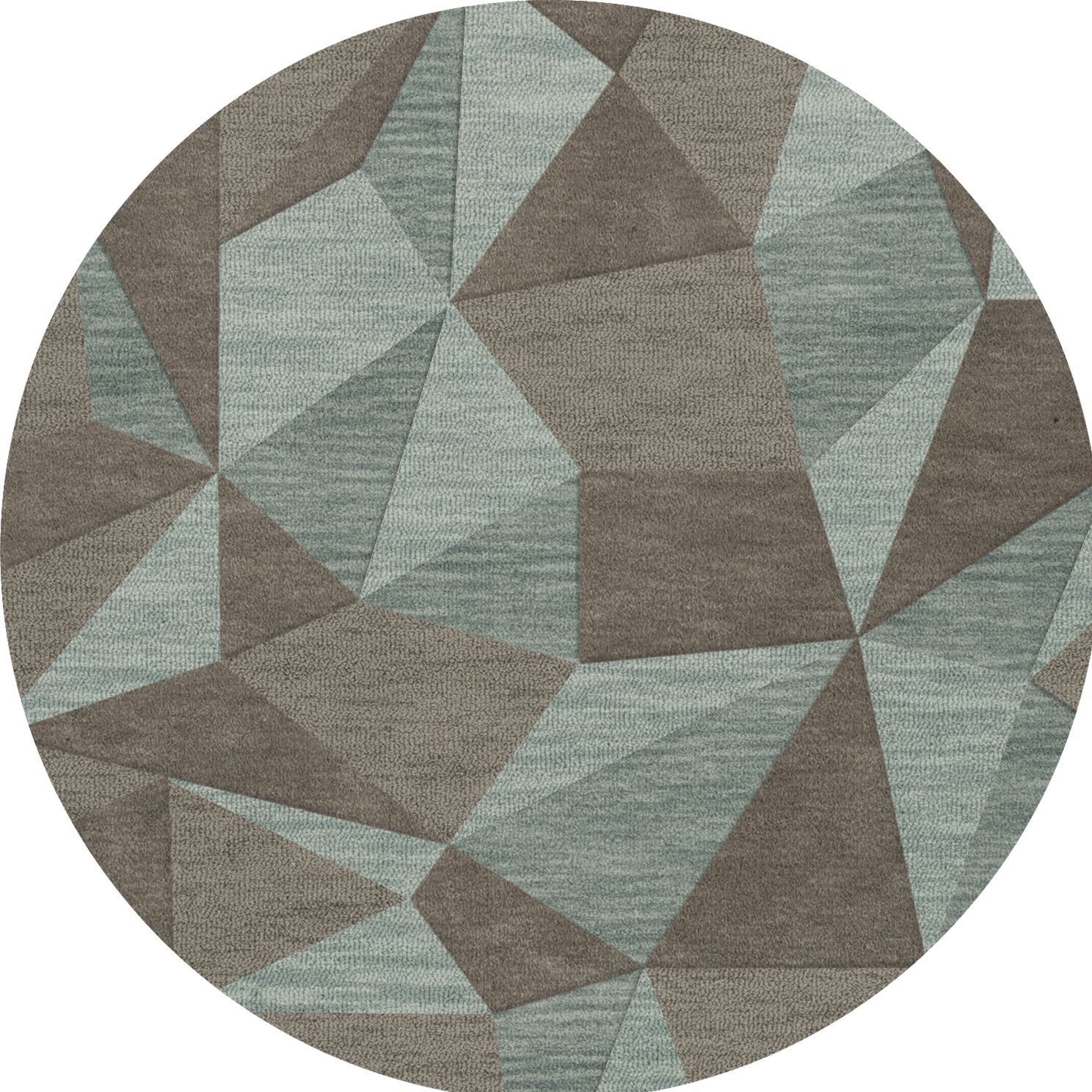 Bella Gray/Brown Area Rug Rug Size: Round 12'