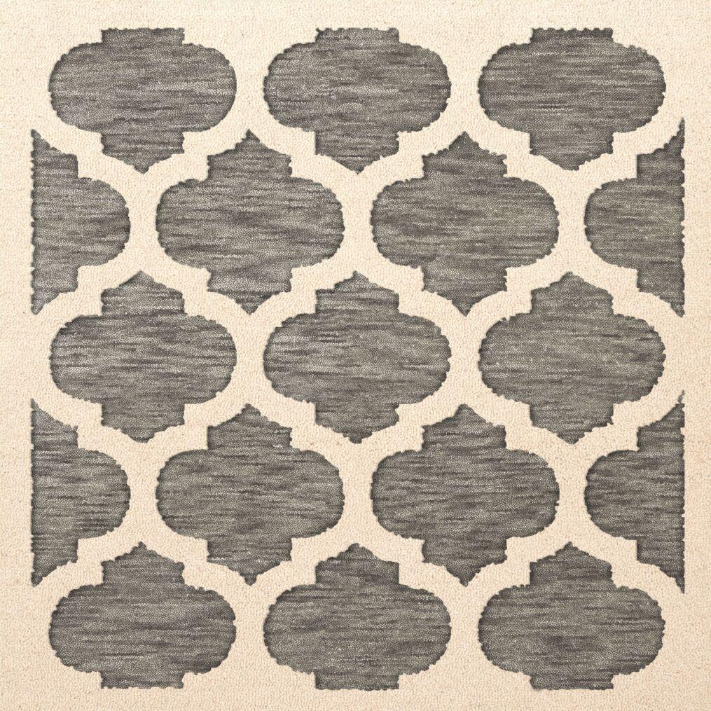 Bella Gray/Beige Area Rug Rug Size: Square 8'
