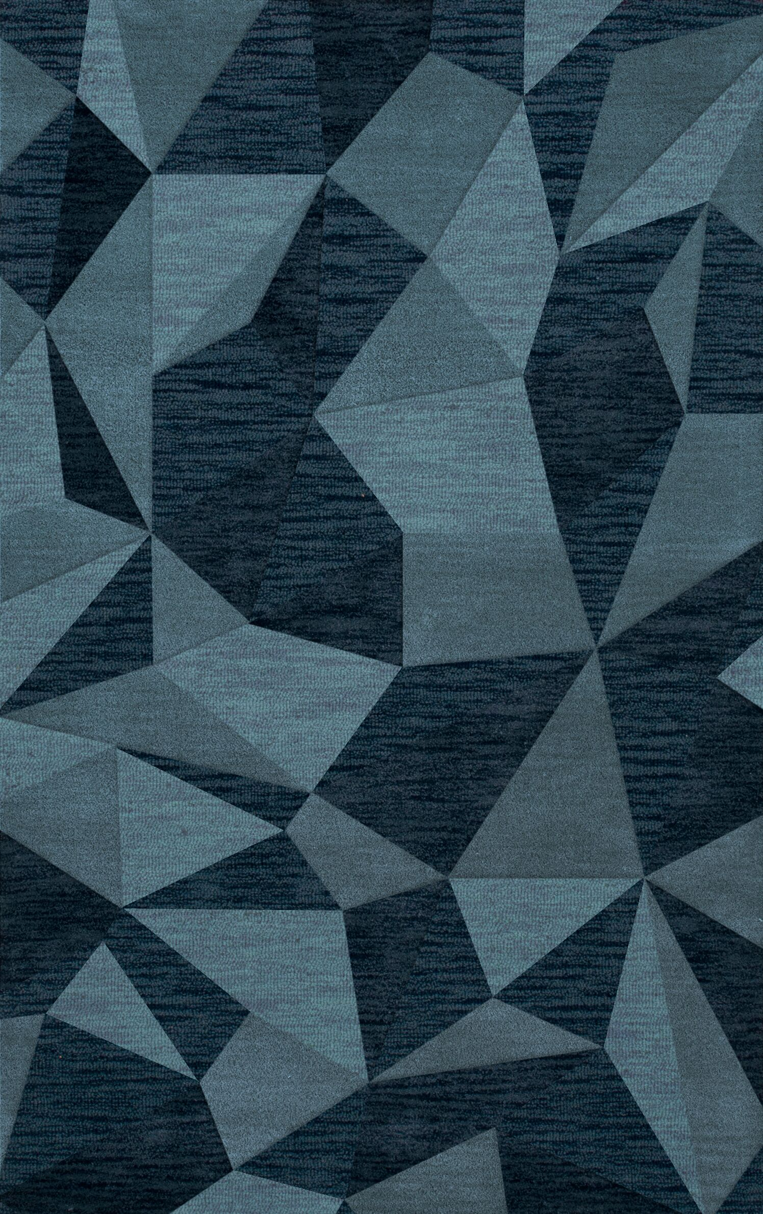 Bella Machine Woven Wool Blue Area Rug Rug Size: Rectangle 6' x 9'