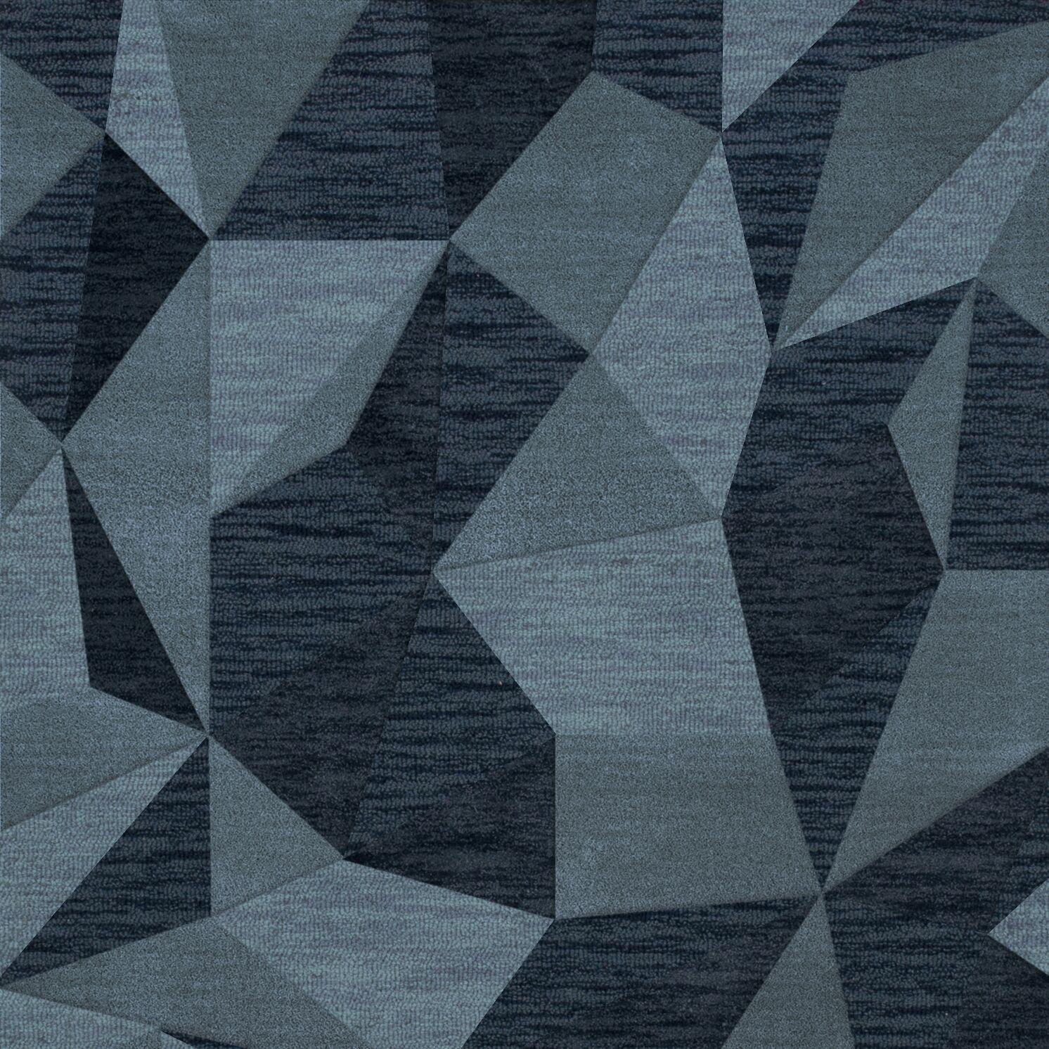 Bella Machine Woven Wool Blue Area Rug Rug Size: Square 4'