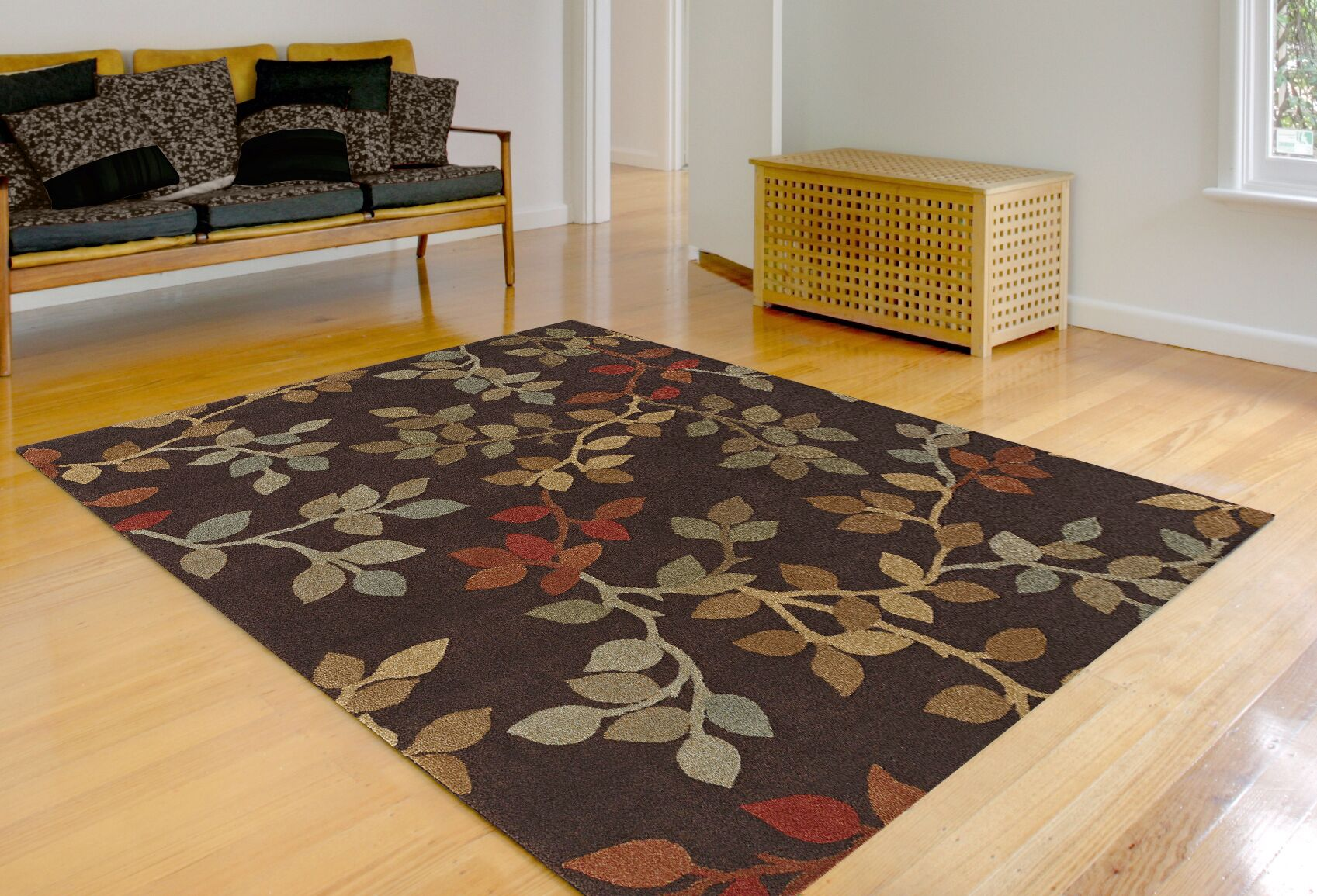 Capri Chocolate Area Rug Rug Size: Rectangle 9'6