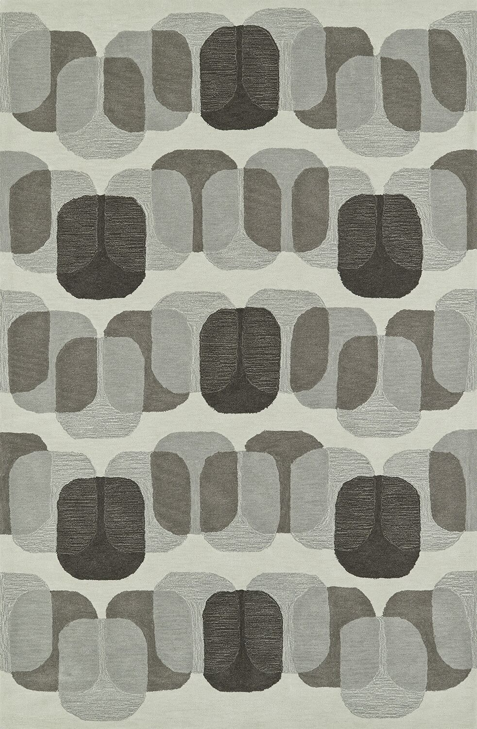 Journey Hand-Tufted Linen Area Rug Rug Size: Rectangle 3'6