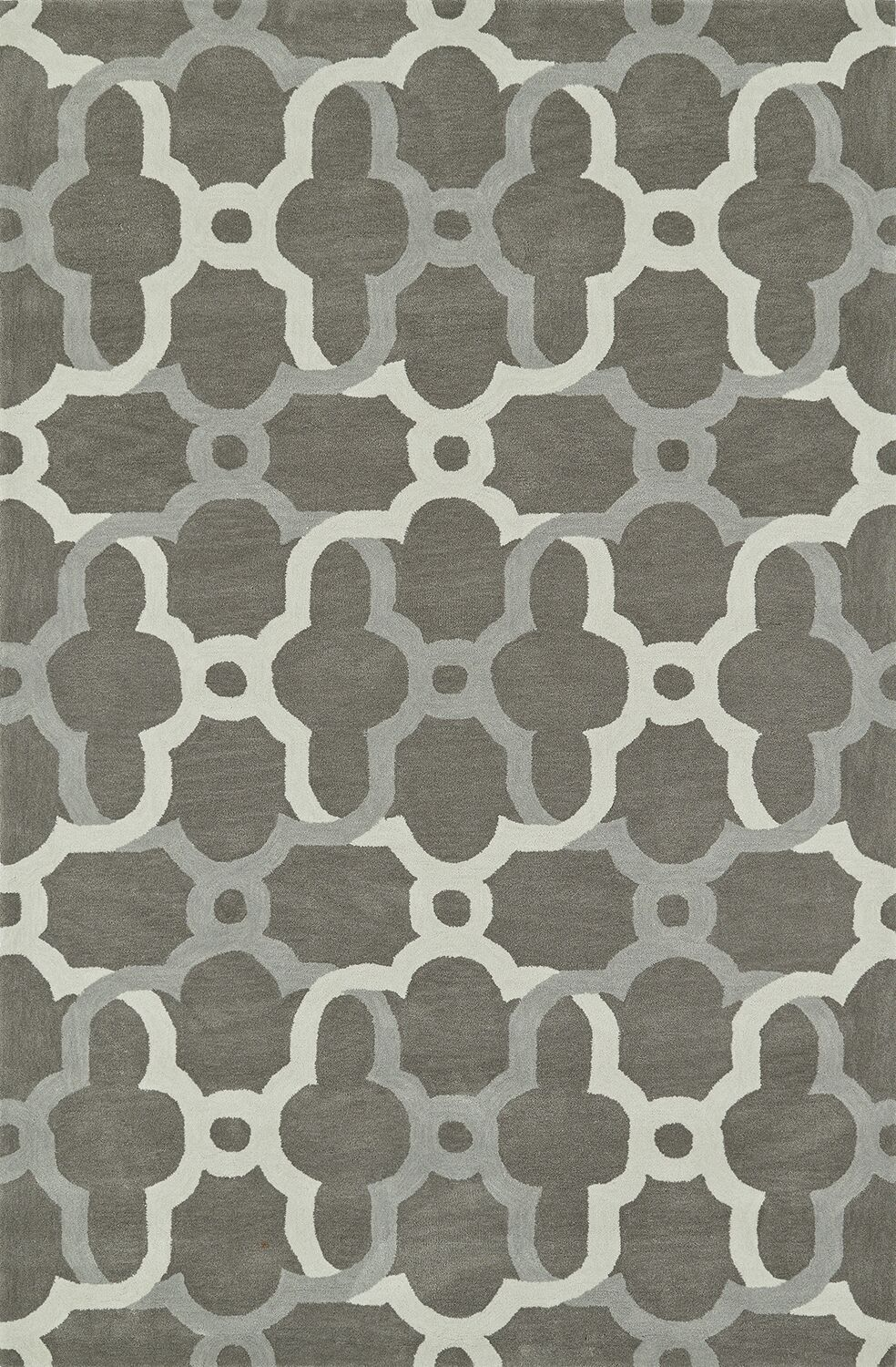 Journey Hand-Tufted Pewter Area Rug Rug Size: Rectangle 3'6