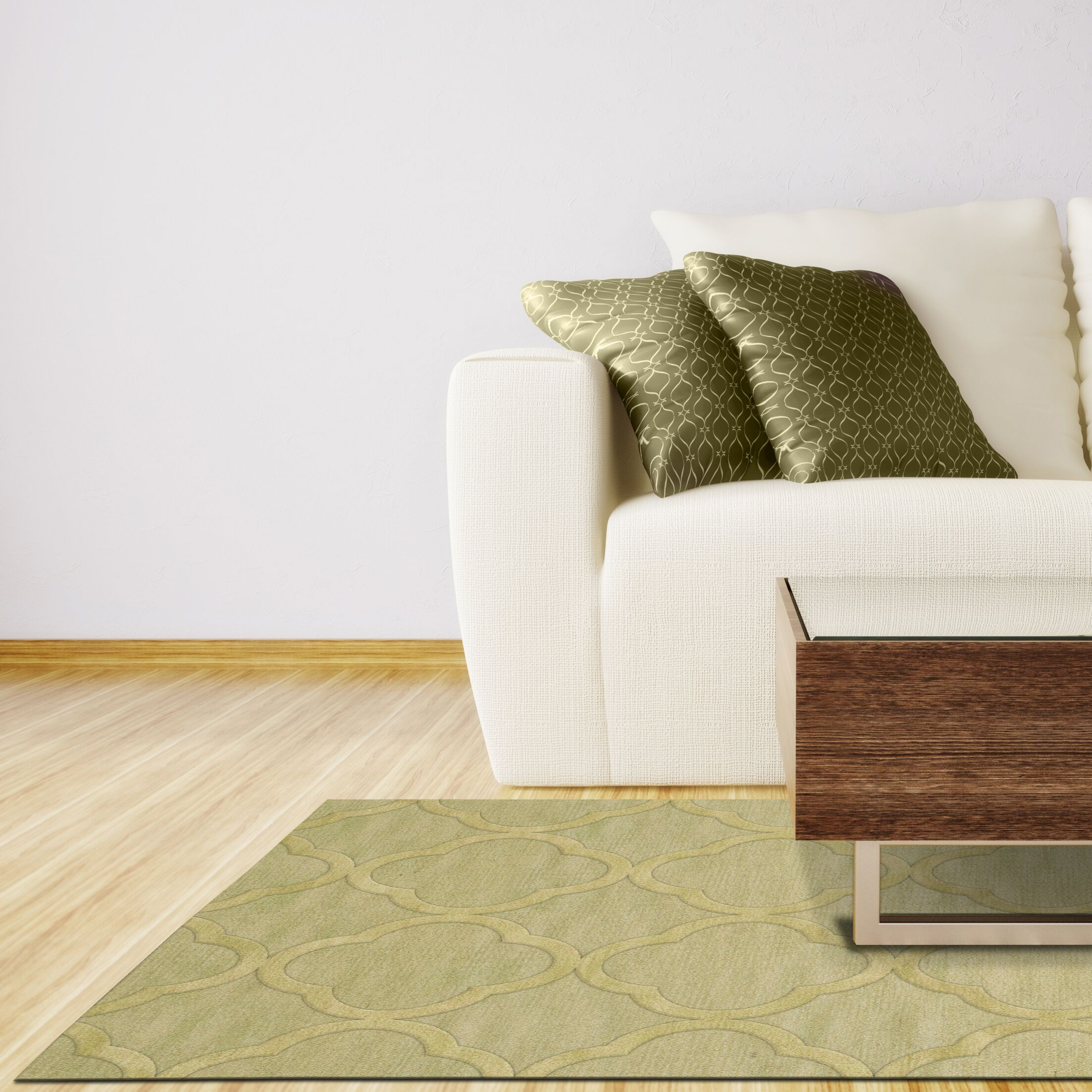 Dover Mint Area Rug Rug Size: Square 10'