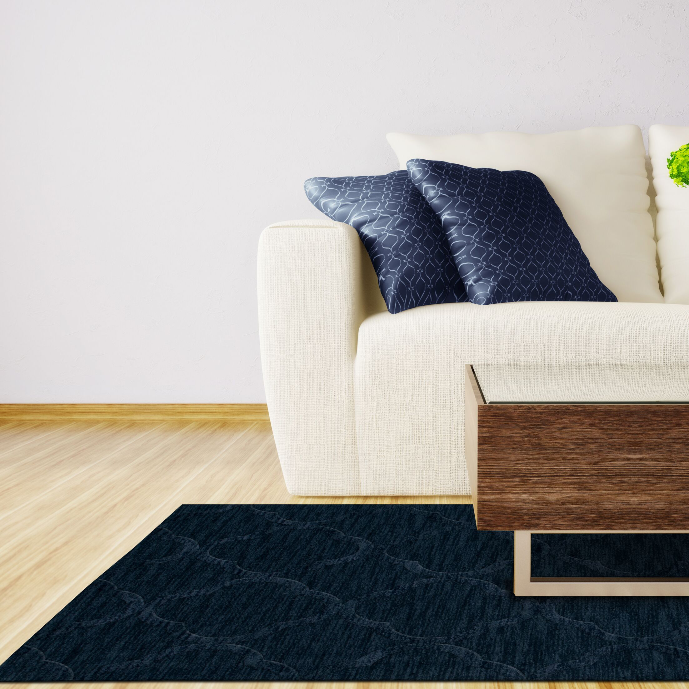 Dover Navy Area Rug Rug Size: Octagon 12'