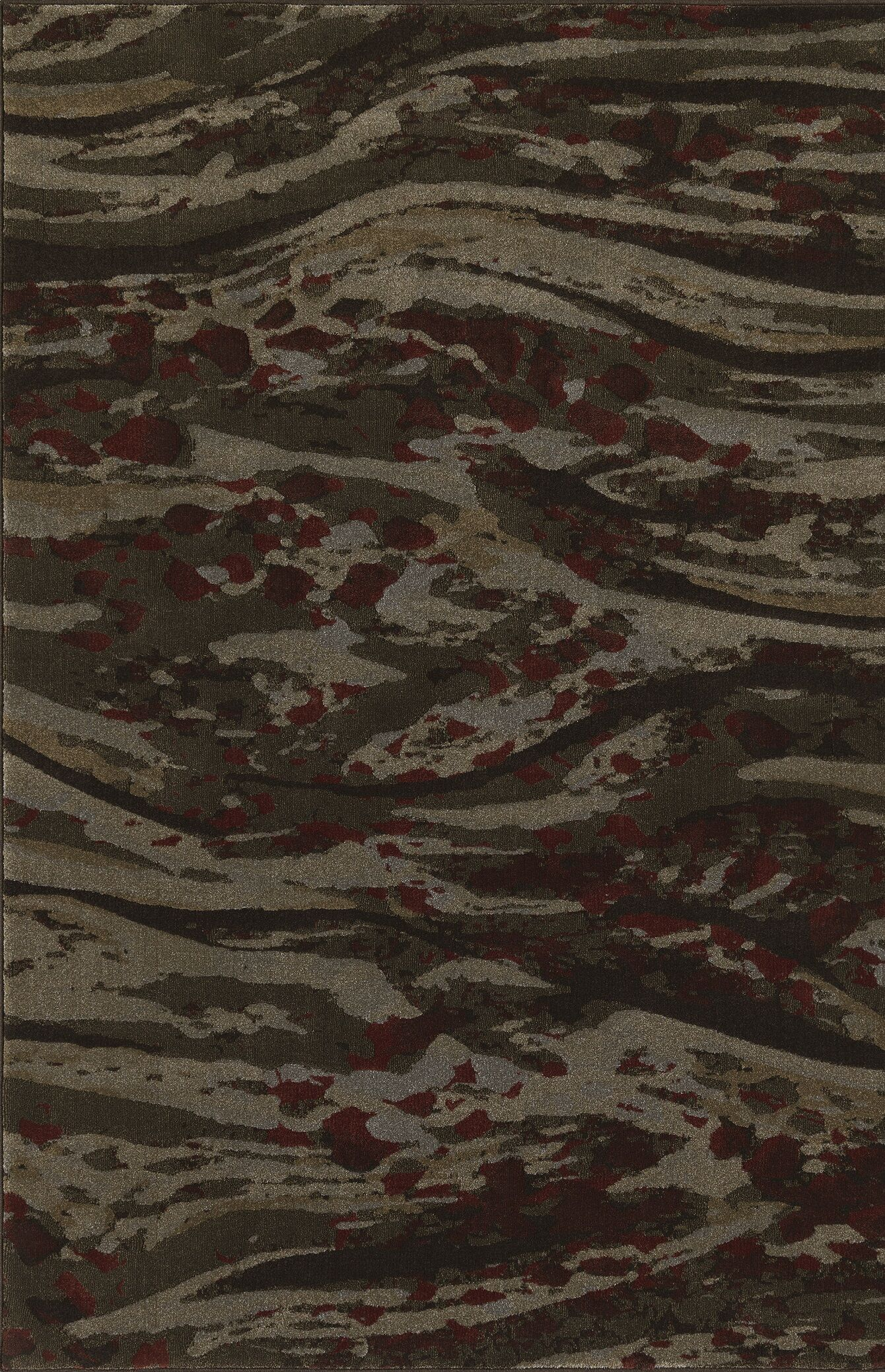 Upton Chocolate Area Rug Rug Size: Rectangle 5'3