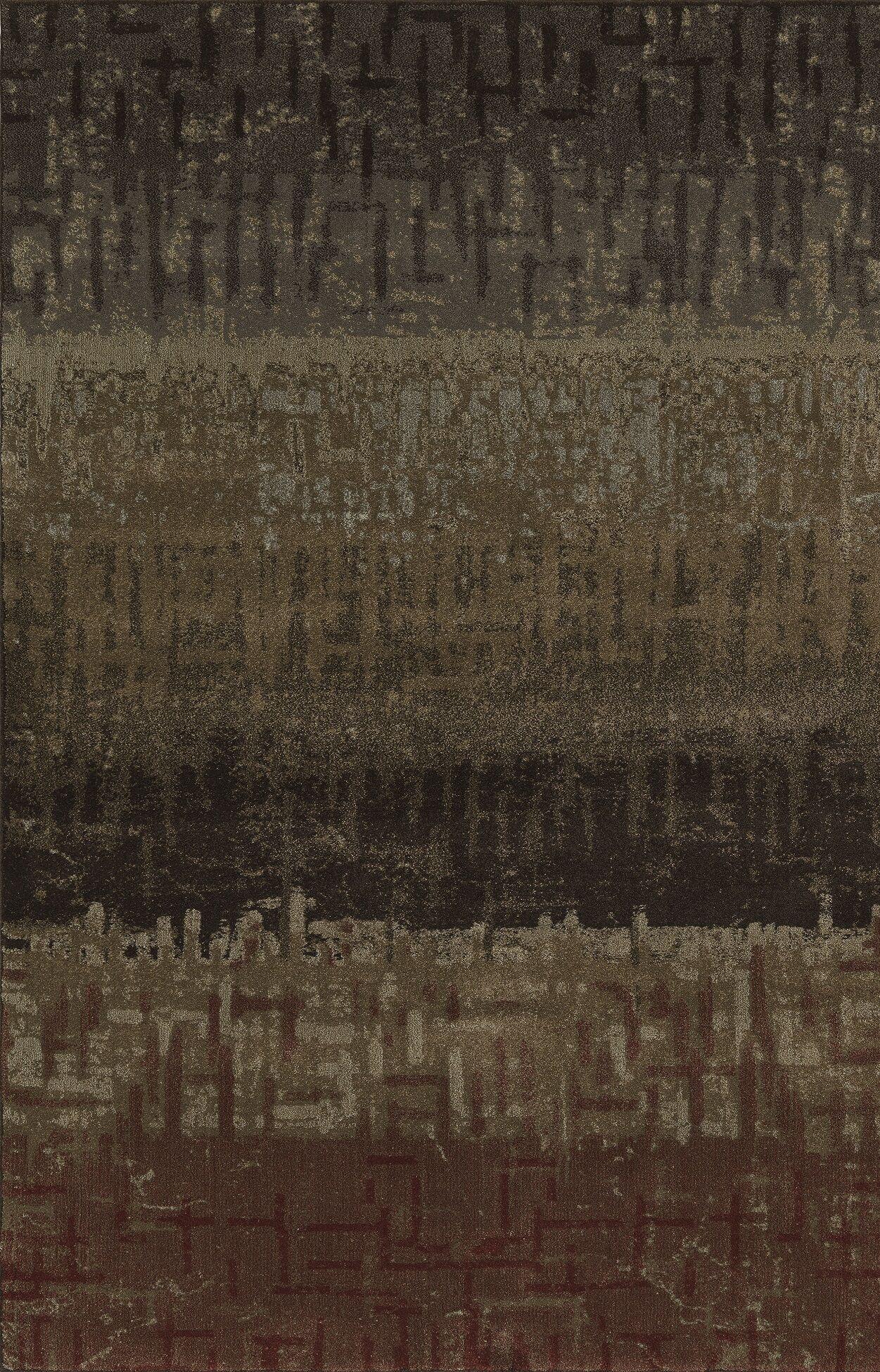 Upton Gray/Brown Area Rug Rug Size: Rectangle 5'3