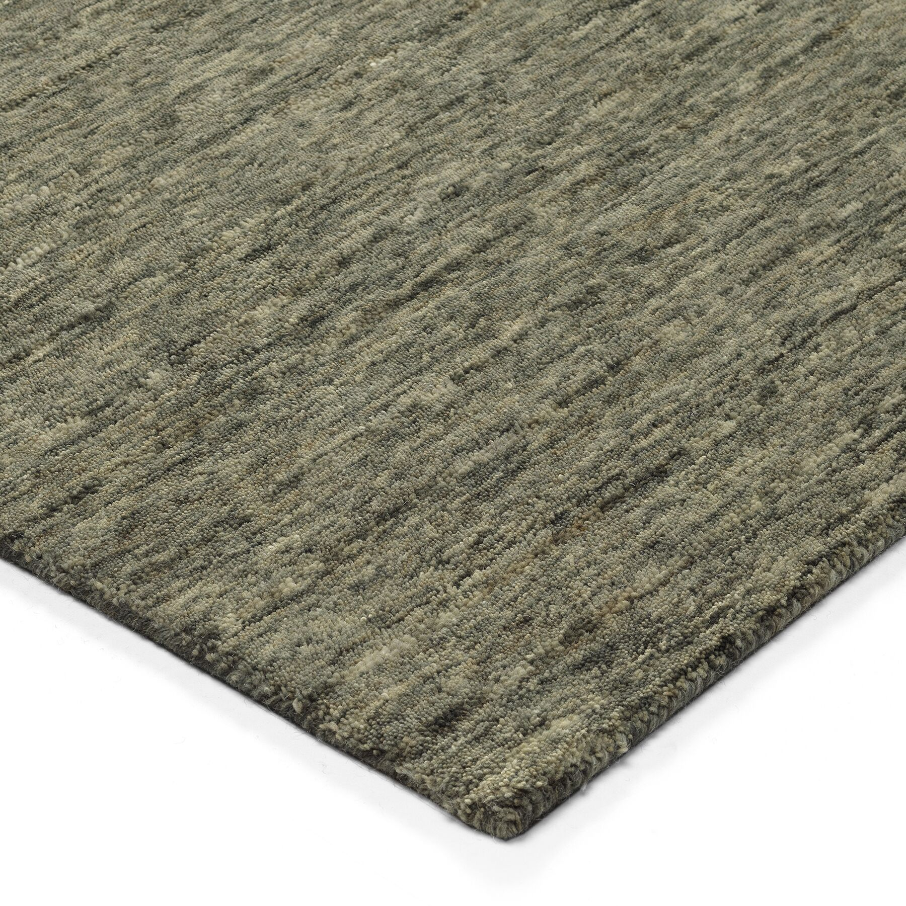 Glenville Hand-Woven Wool Carbon Area Rug Rug Size: Rectangle 5' x 7'6