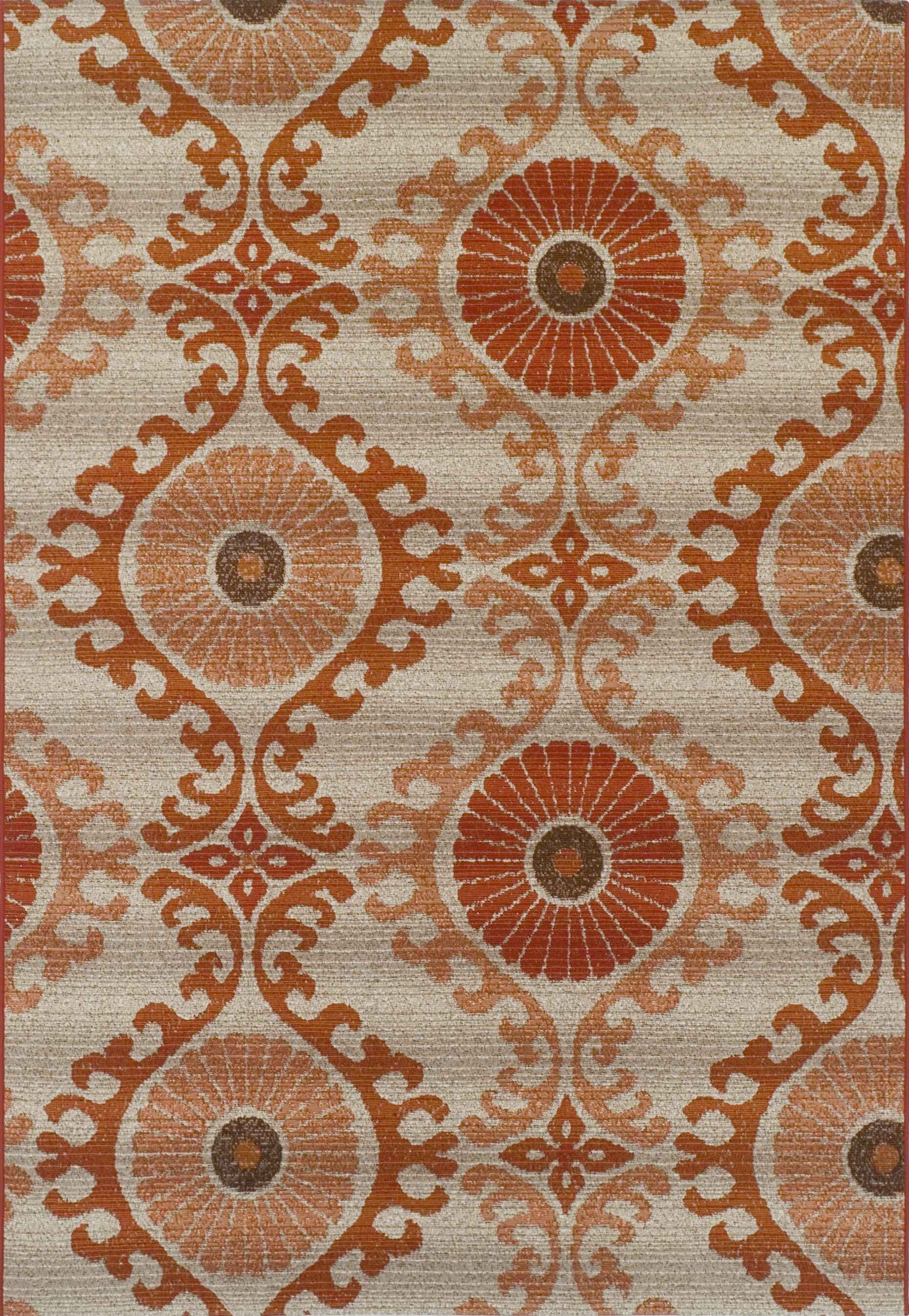 Connors Paprika Indoor/Outdoor Area Rug Rug Size: Rectangle 5'1