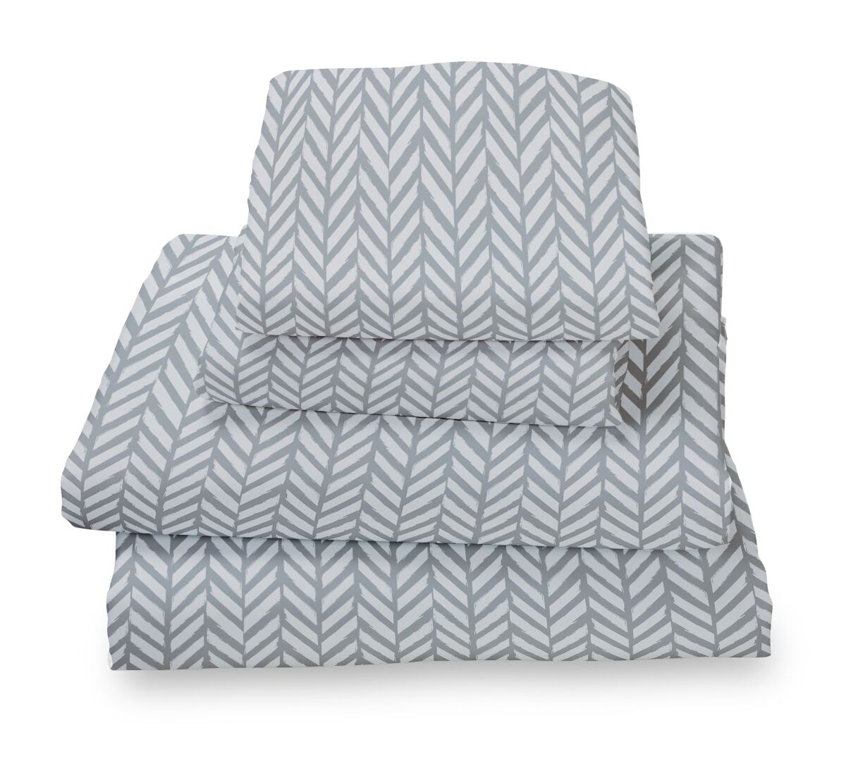 Herringbone Extra Deep Pocket Sheet Set Size: King, Color: Gray