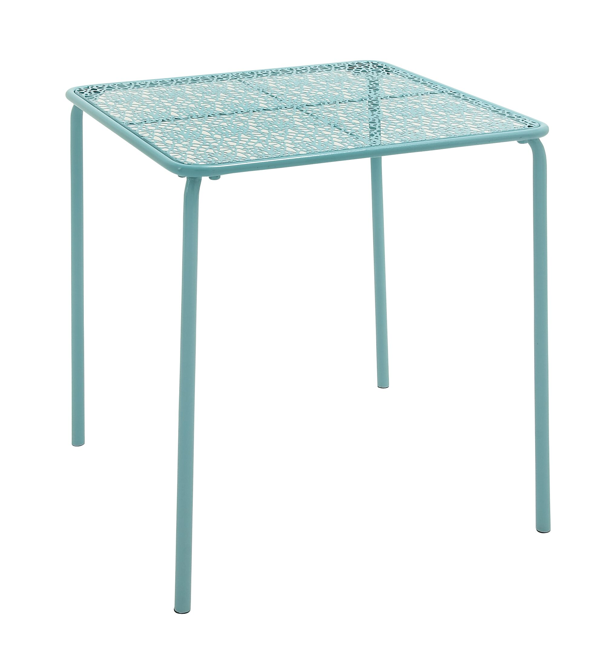 Metal Side Table Color: Turquoise
