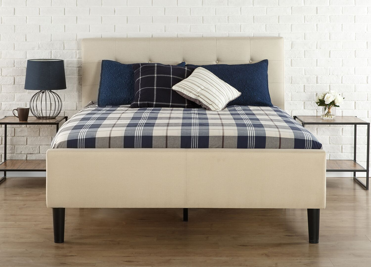 Byard Button Tufted Twin Upholstered Platform Bed