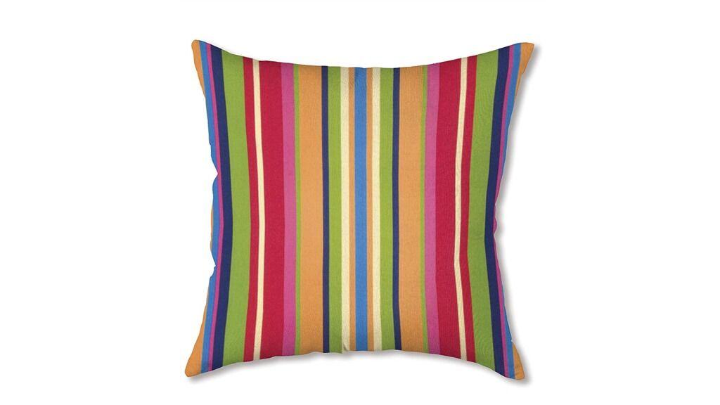 Polyester Classic Throw Pillow Fabric: Fiesta Stripe
