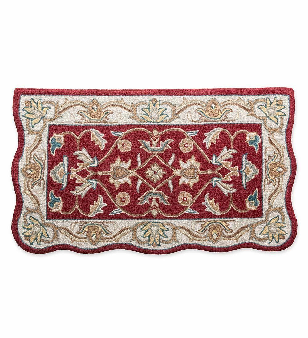 McLean Hand-Tufted Wool Merlot Area Rug