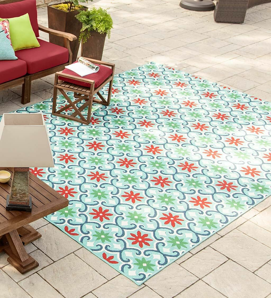 Lexington Floral Light Green Indoor/Outdoor Area Rug Rug Size: Rectangle 1'10'' x 2'10''