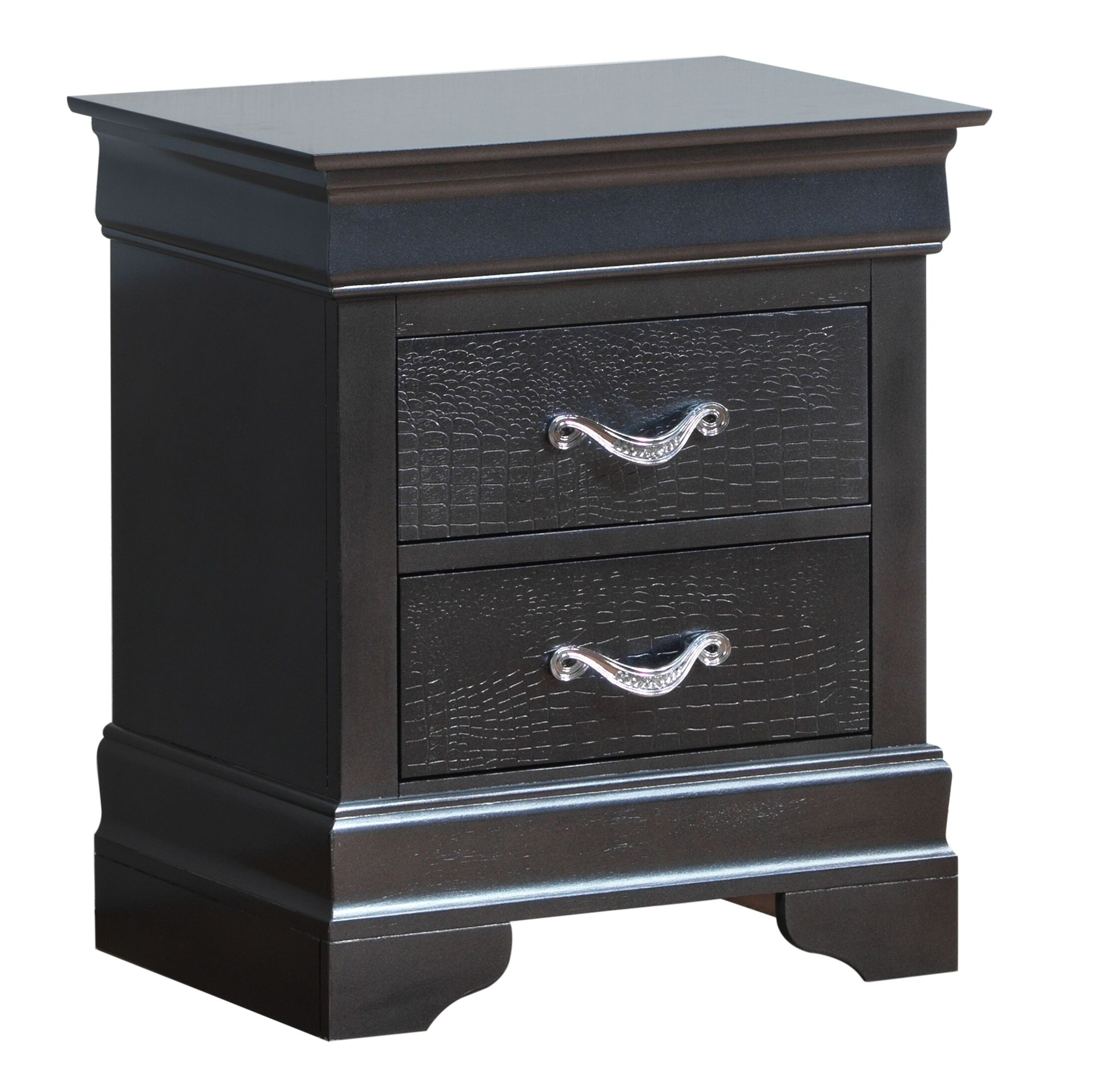 Paignton 2 Drawer Nightstand Color: Charcoal