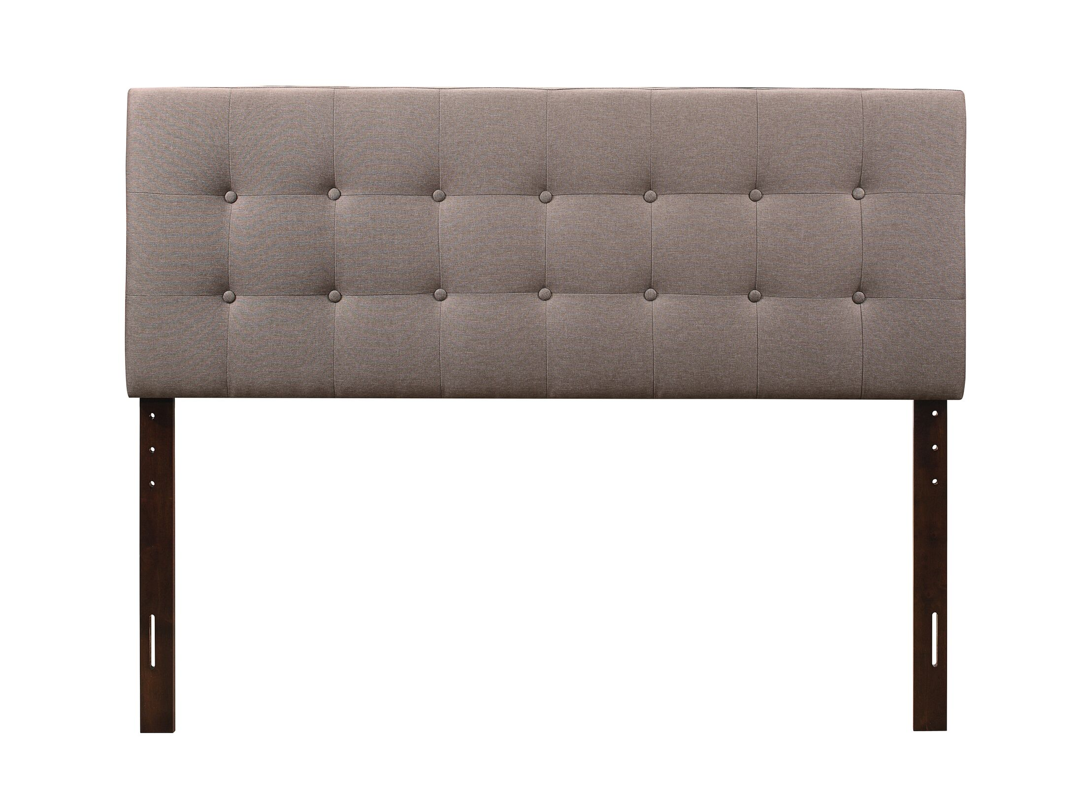 Albert Upholstered Panel Headboard Size: Twin, Upholstery: Clay