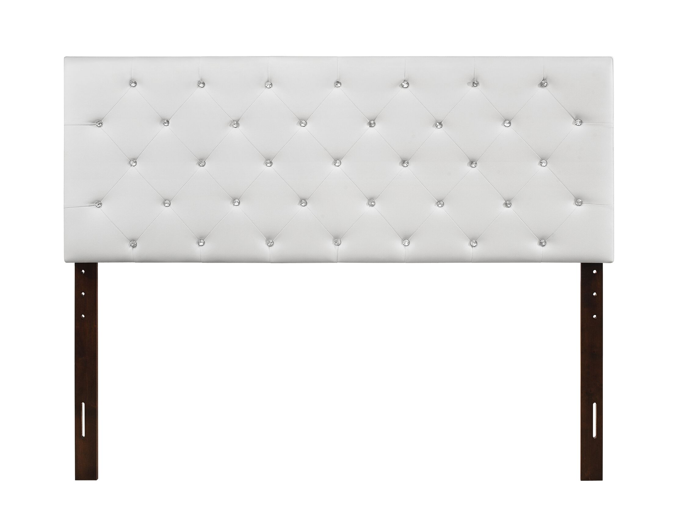 Albertine Upholstered Panel Headboard Size: Twin, Upholstery: White