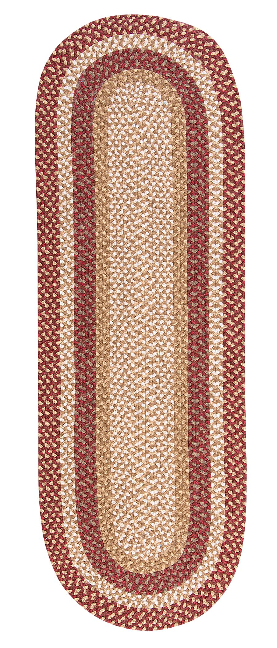 Fabric Multi Red Area Rug Rug Size: Runner 2' x 8'