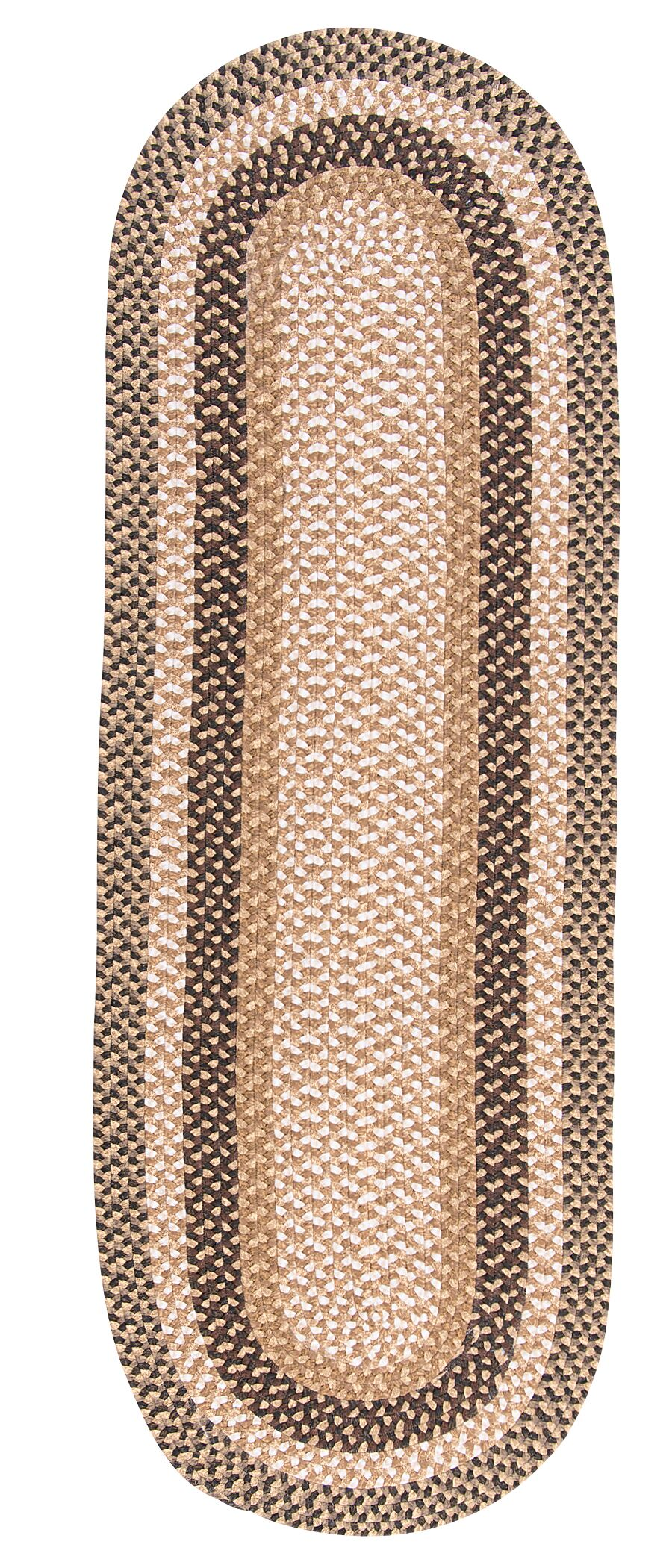 Fabric Multi Brown Area Rug Rug Size: Runner 2' x 10'