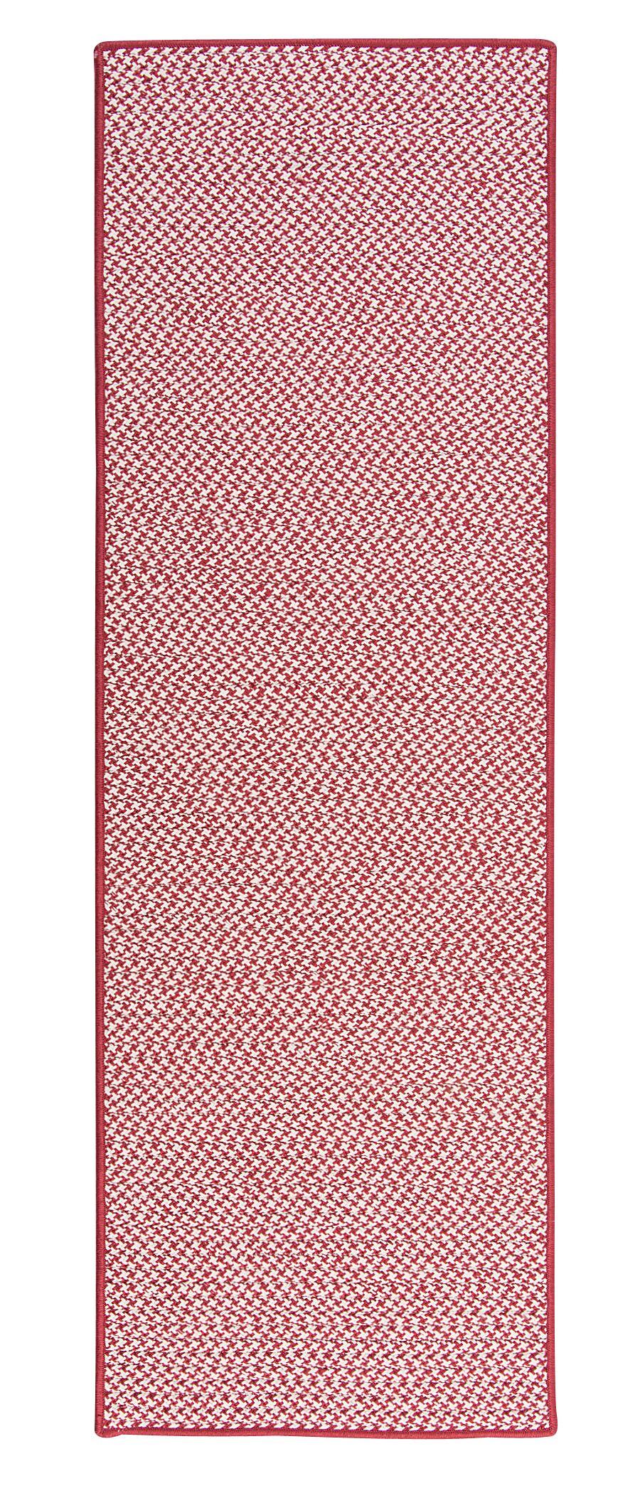 Outdoor Houndstooth Tweed Sangria Area Rug Rug Size: Runner 2' x 12'
