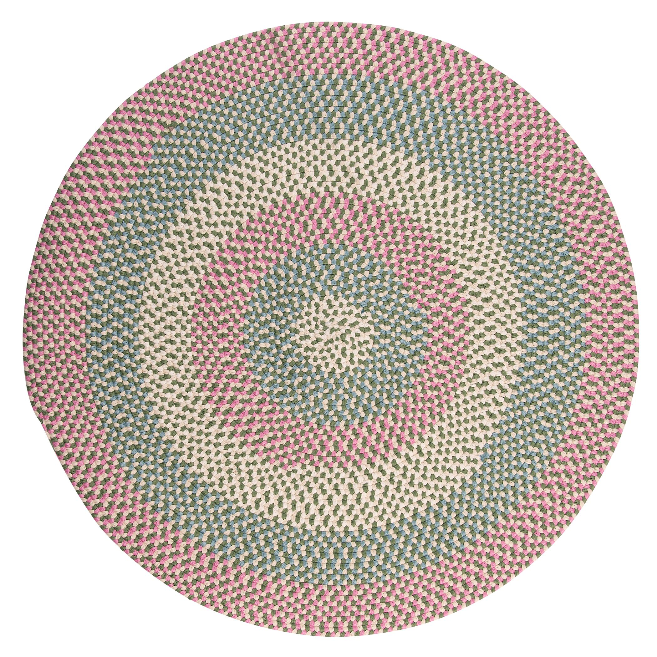 Carousel Bubble Green / Pink Area Rug Rug Size: Round 12'