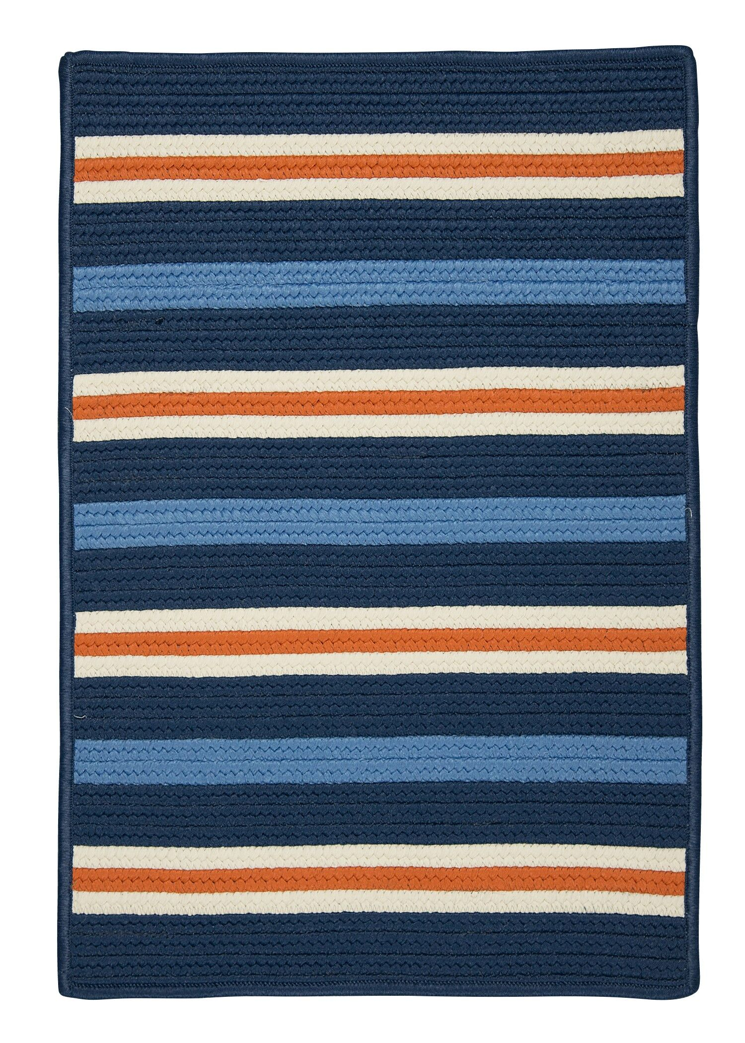 Painter Stripe Set Sail Blue Indoor/Outdoor Area Rug Rug Size: 3' x 5'