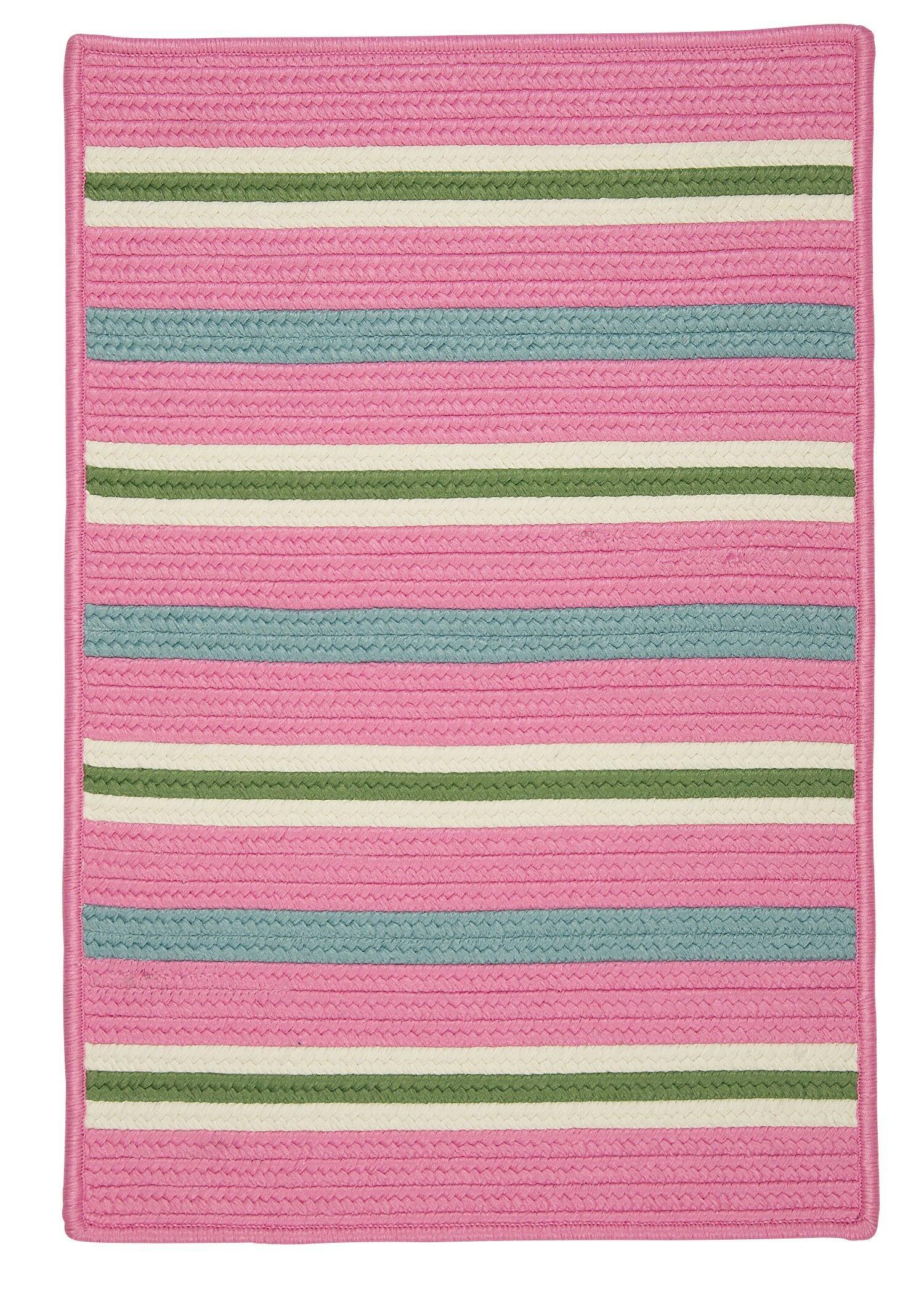 Painter Stripe Spring Pink Indoor/Outdoor Area Rug Rug Size: 5' x 7'