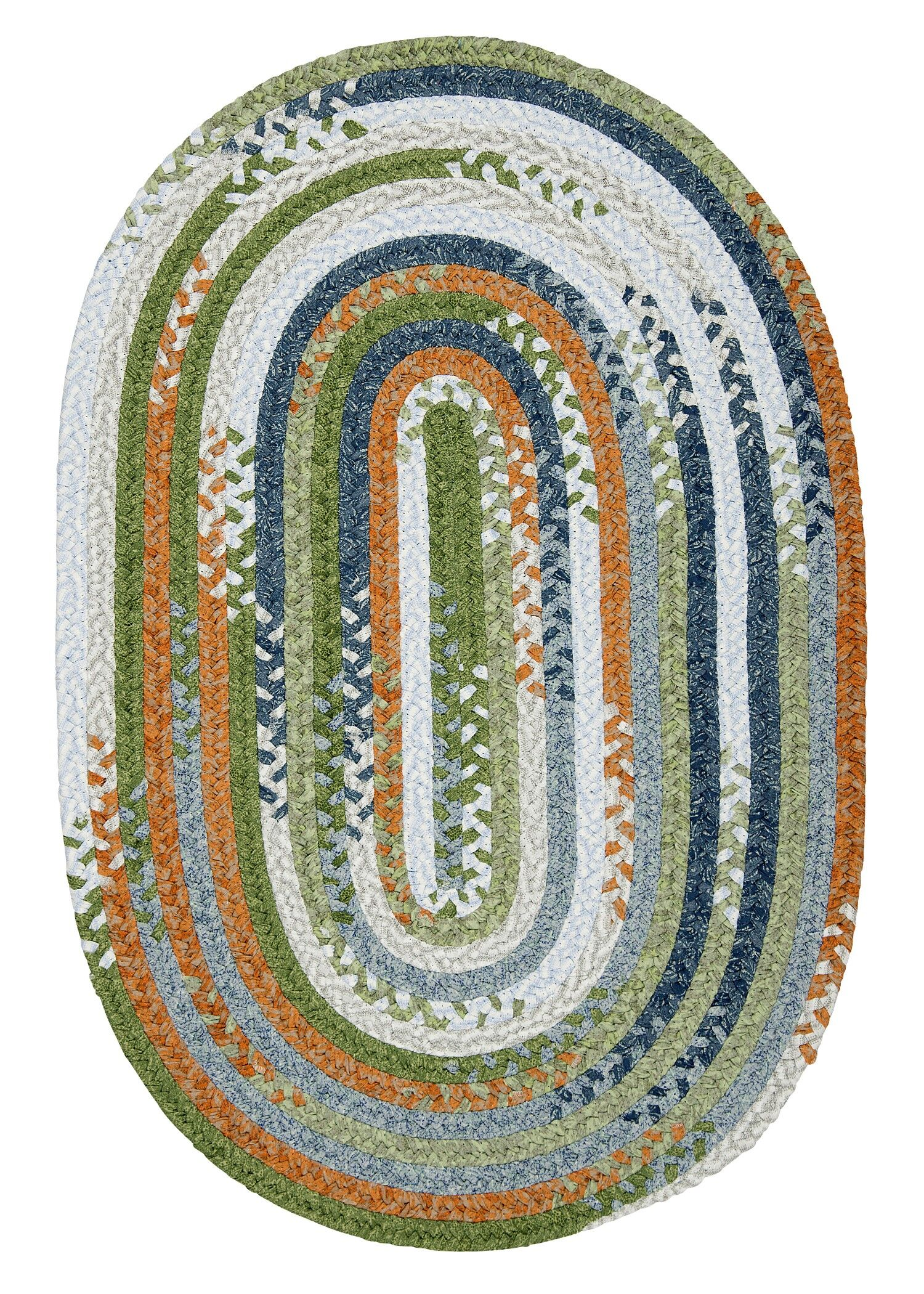 Rag-Time Orange/Multi Kids Area Rug Rug Size: 5' x 7'