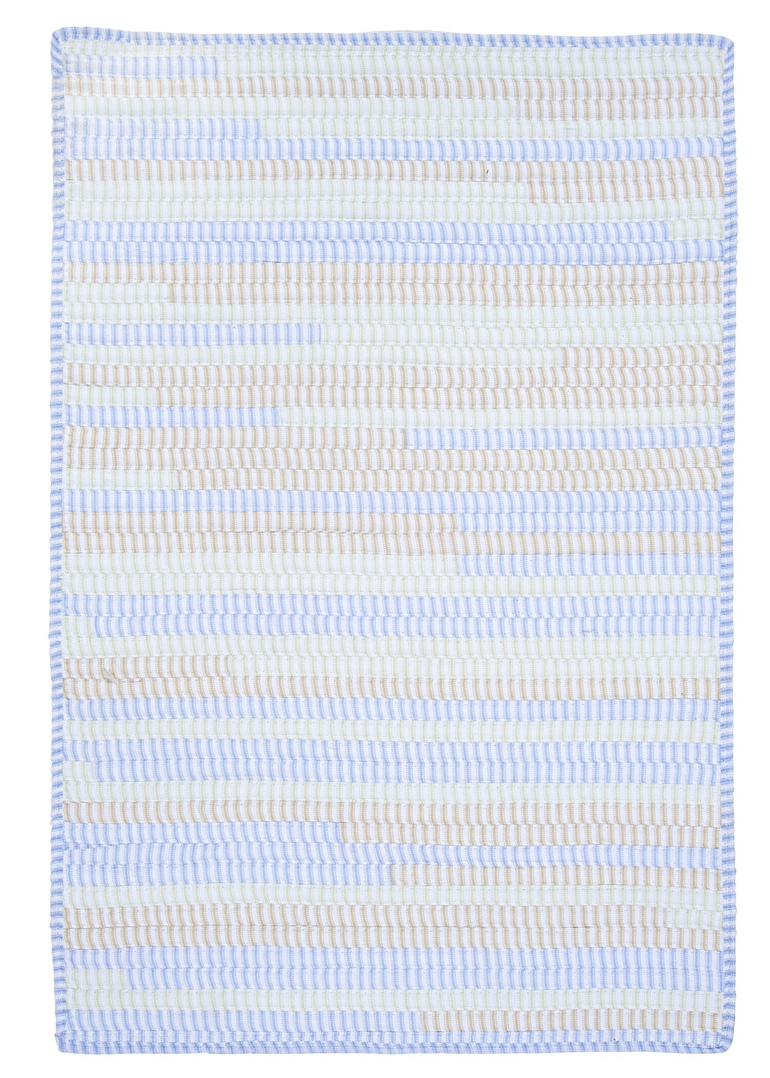 Ticking Stripe Rect Starlight Area Rug Rug Size: Runner 2' x 12'